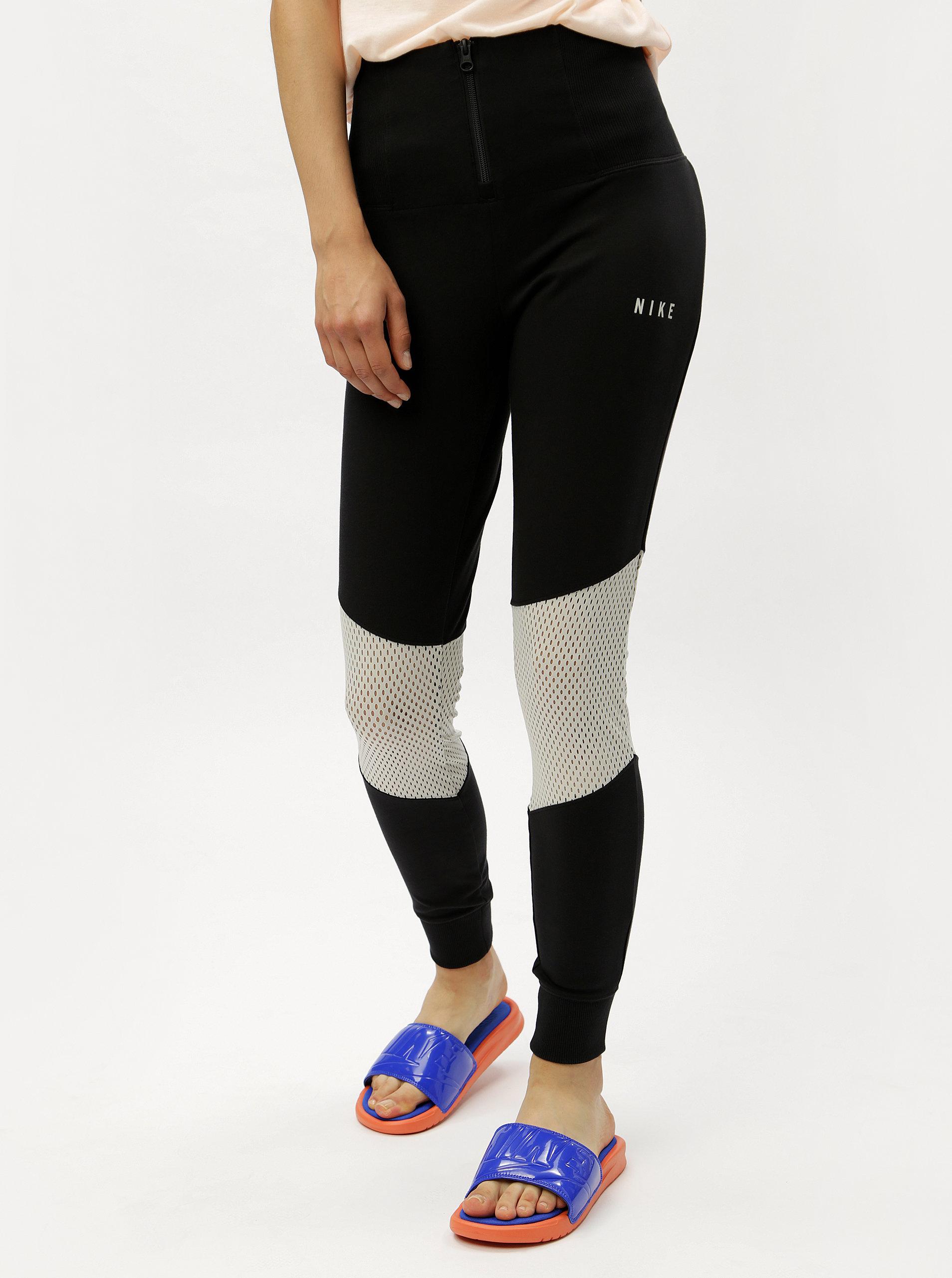 bc4133da4a3 Černé dámské legíny se zipem a vysokým pasem Nike ...