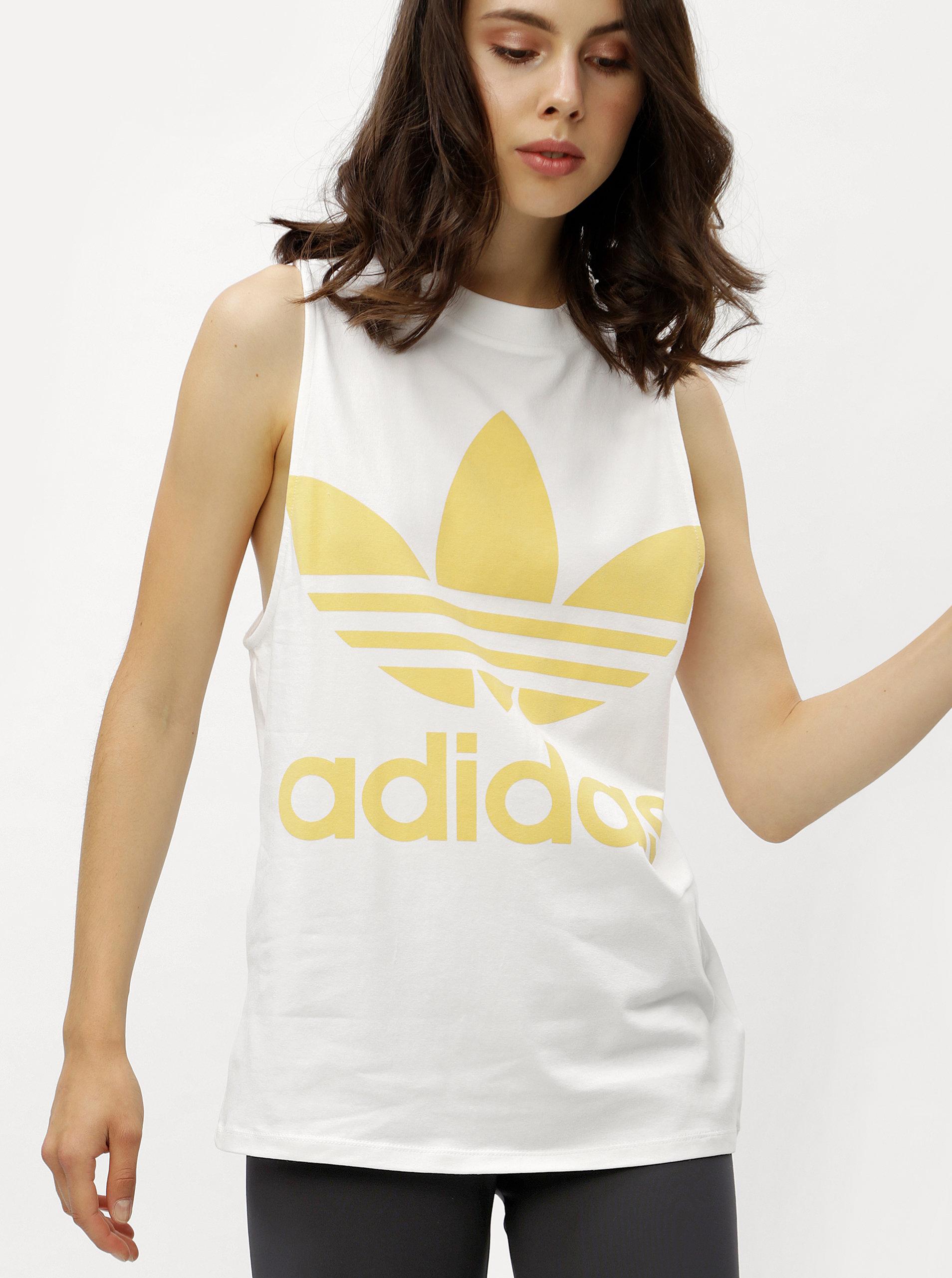 Bílé dámské tílko s potiskem adidas Originals