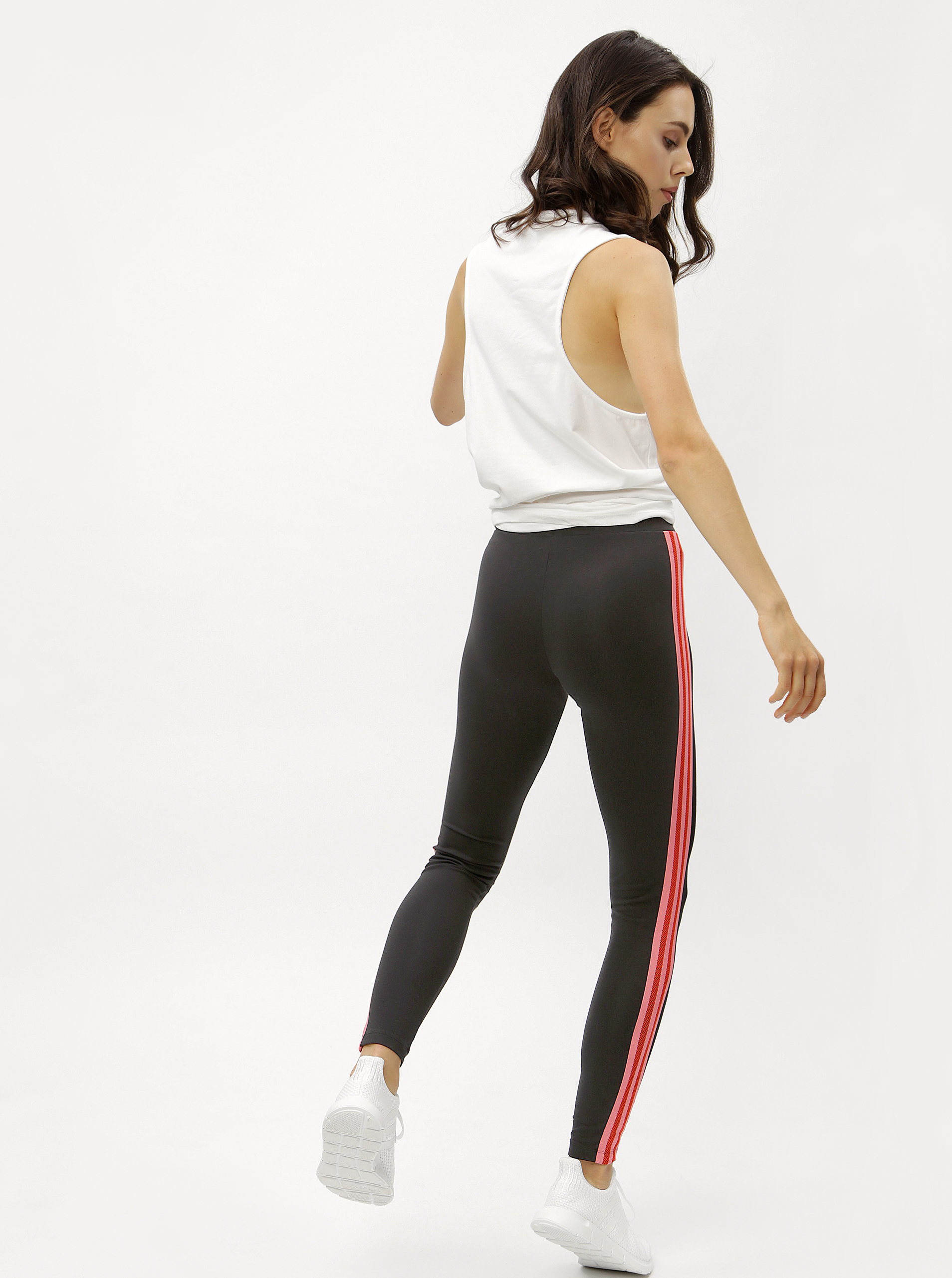 987d545f7fd9 Čierne dámske legíny s pruhmi adidas Originals ...