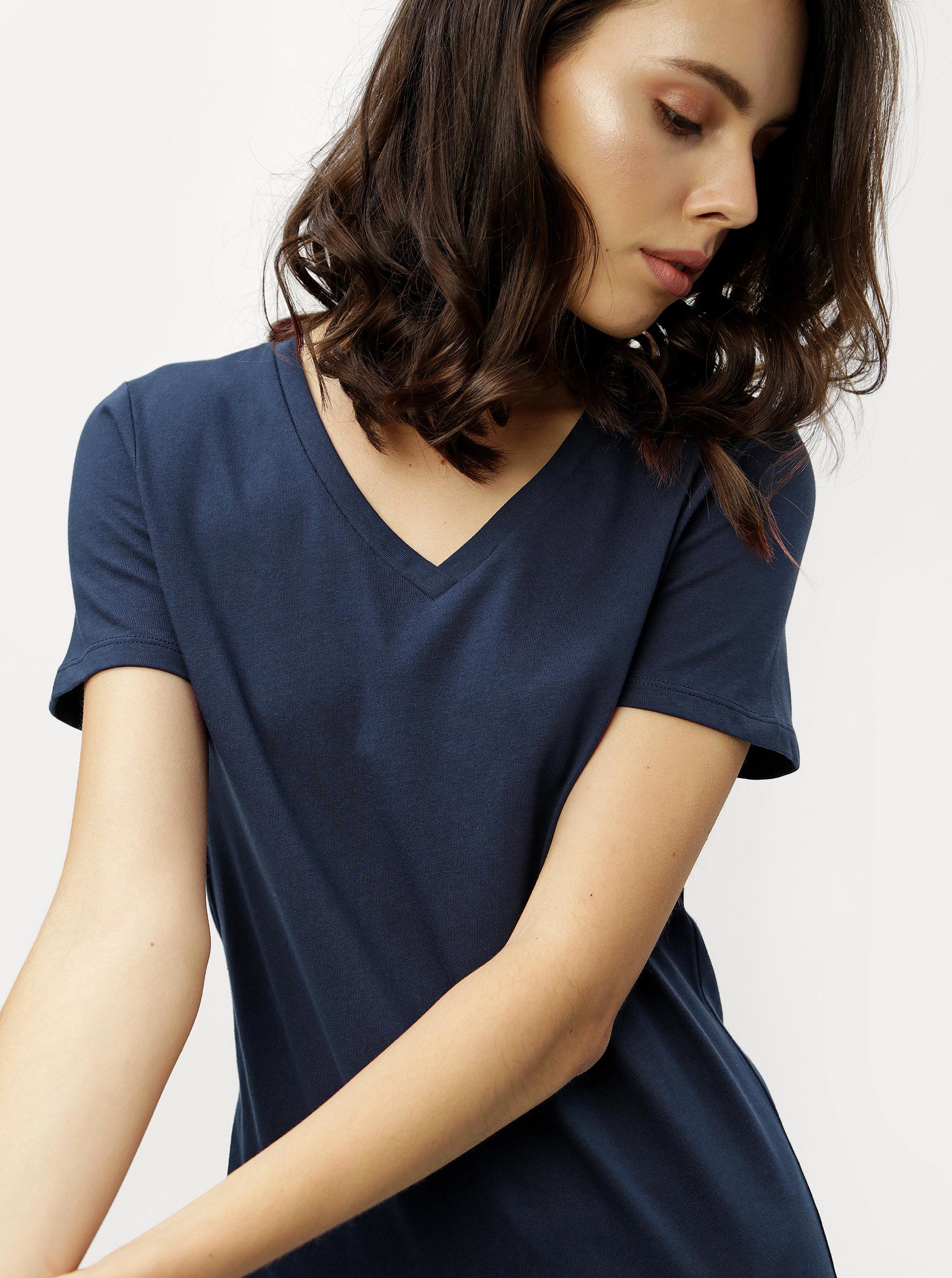 68cae8b70c90 Tmavě modré pouzdrové šaty s krátkým rukávem ZOOT ...