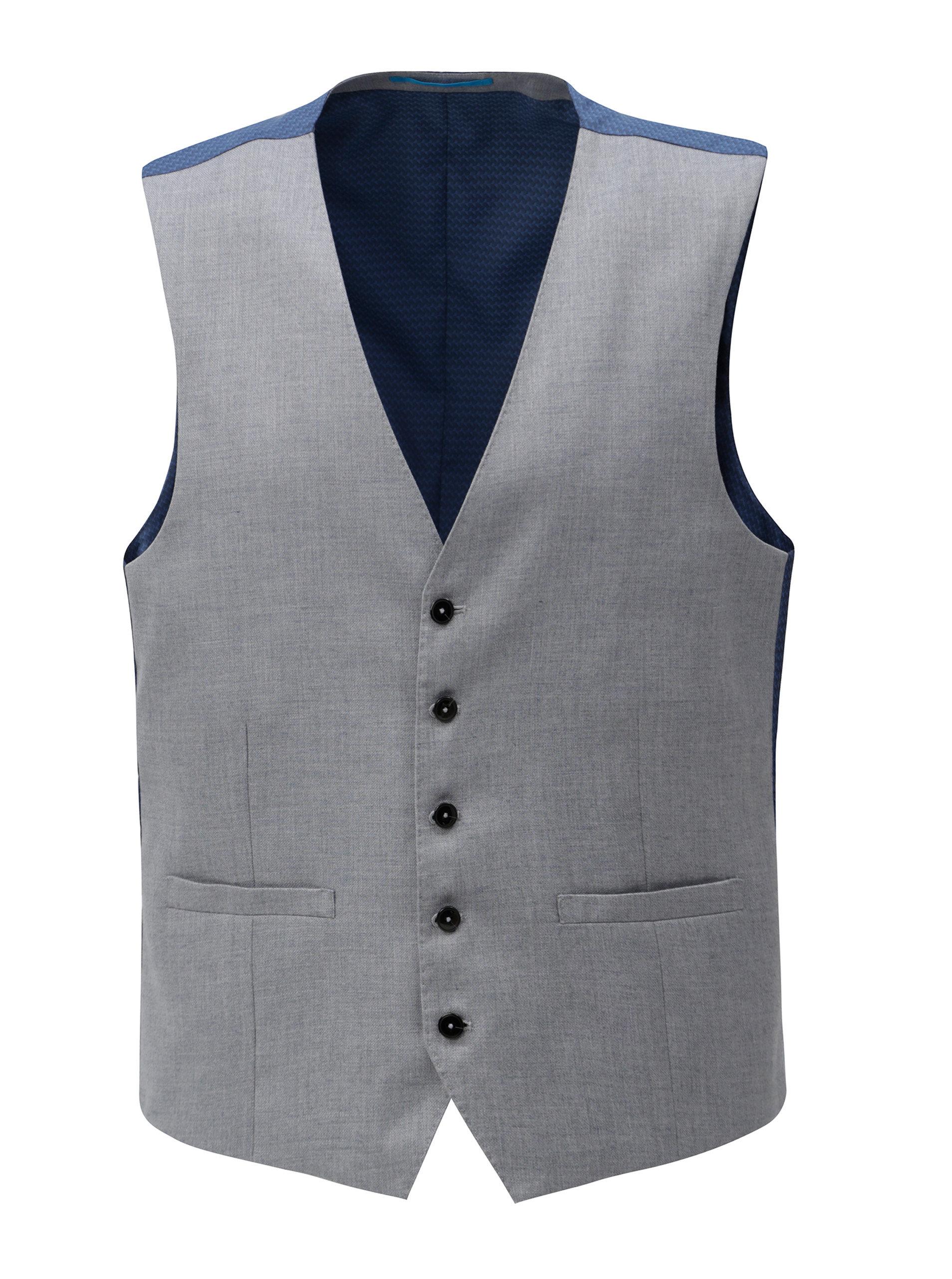 Světle šedá formální vesta Burton Menswear London