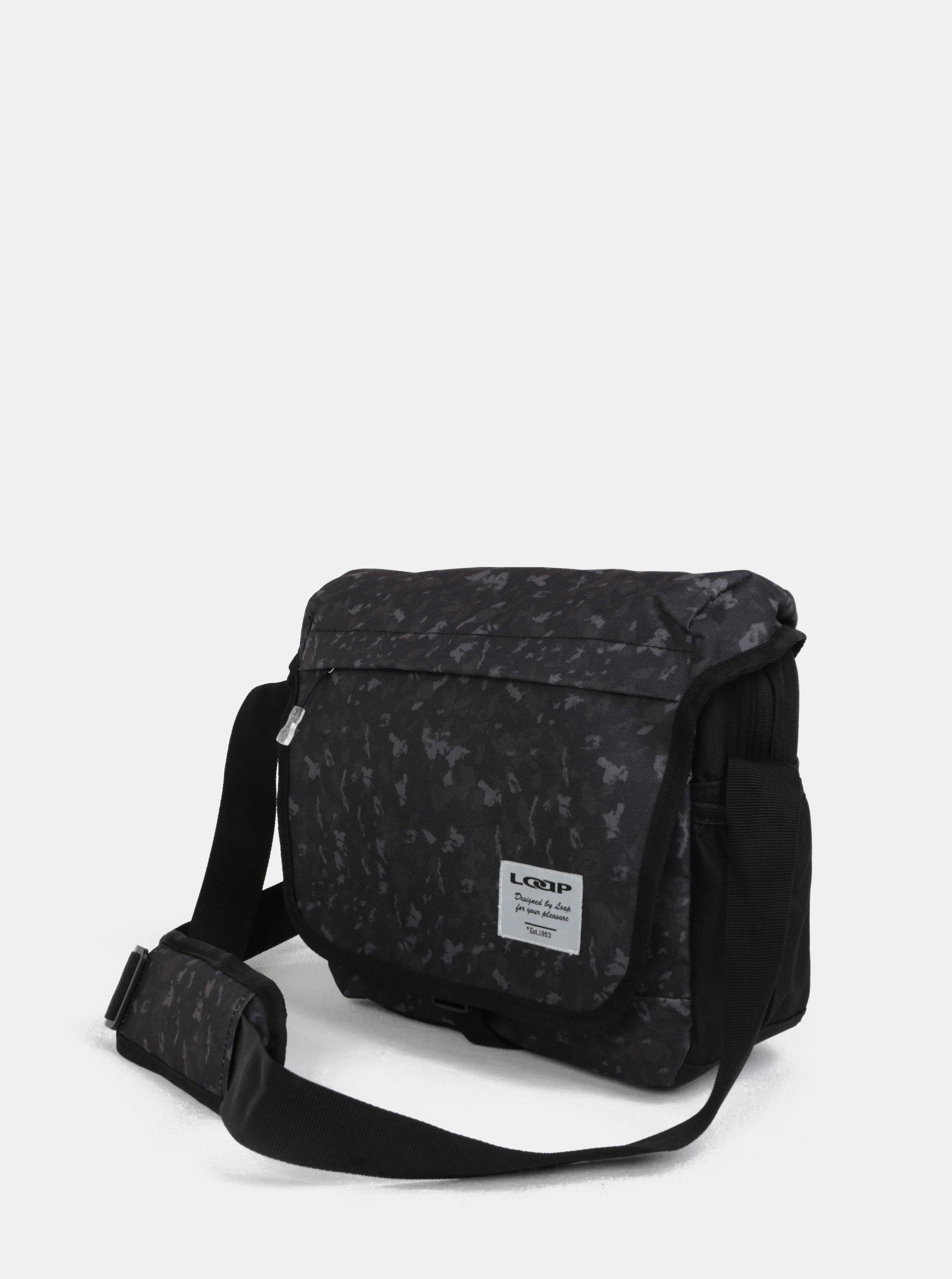 470531c408424 Zeleno-černá pánská vzorovaná taška přes rameno LOAP Carala | ZOOT.cz