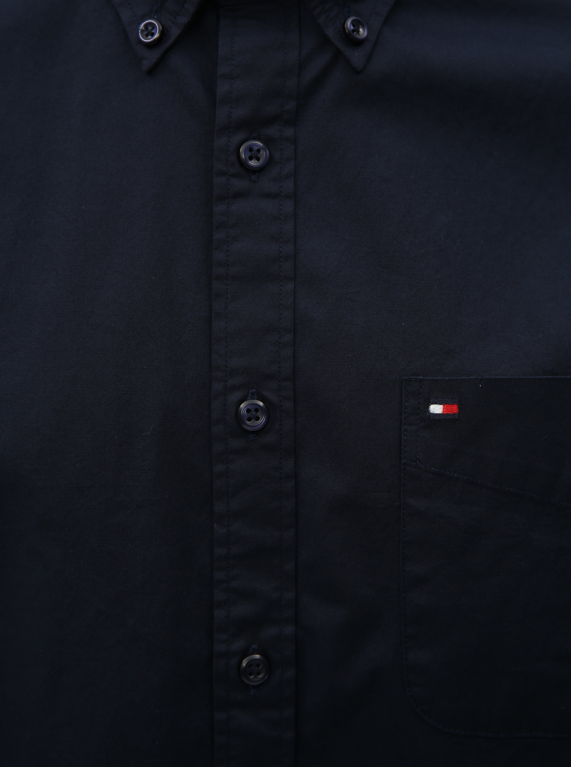 69aaaefce64 Tmavě modrá pánská košile s krátkým rukávem Tommy Hilfiger ...