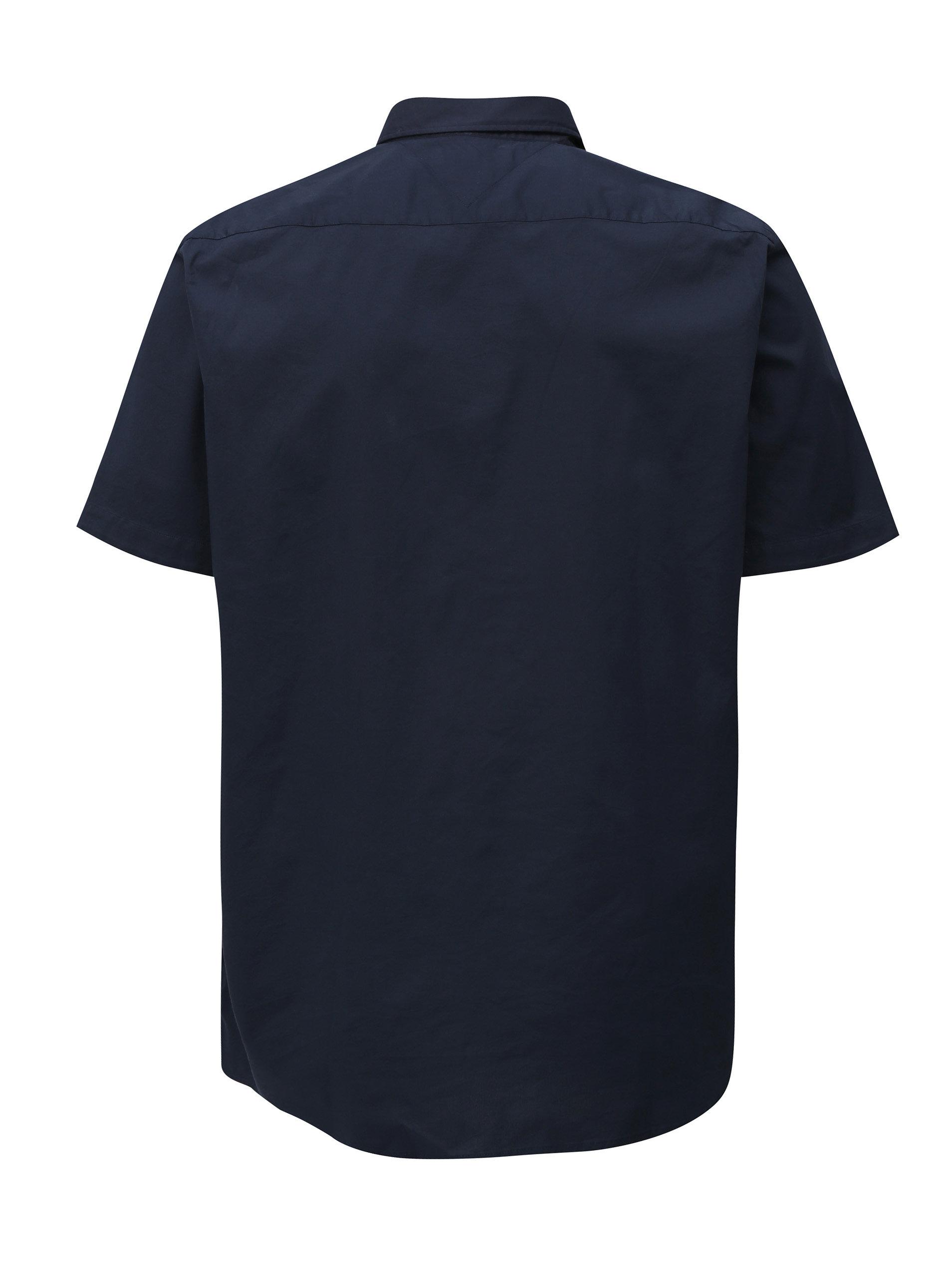 Tmavě modrá pánská košile s krátkým rukávem Tommy Hilfiger ... c333dd78b0