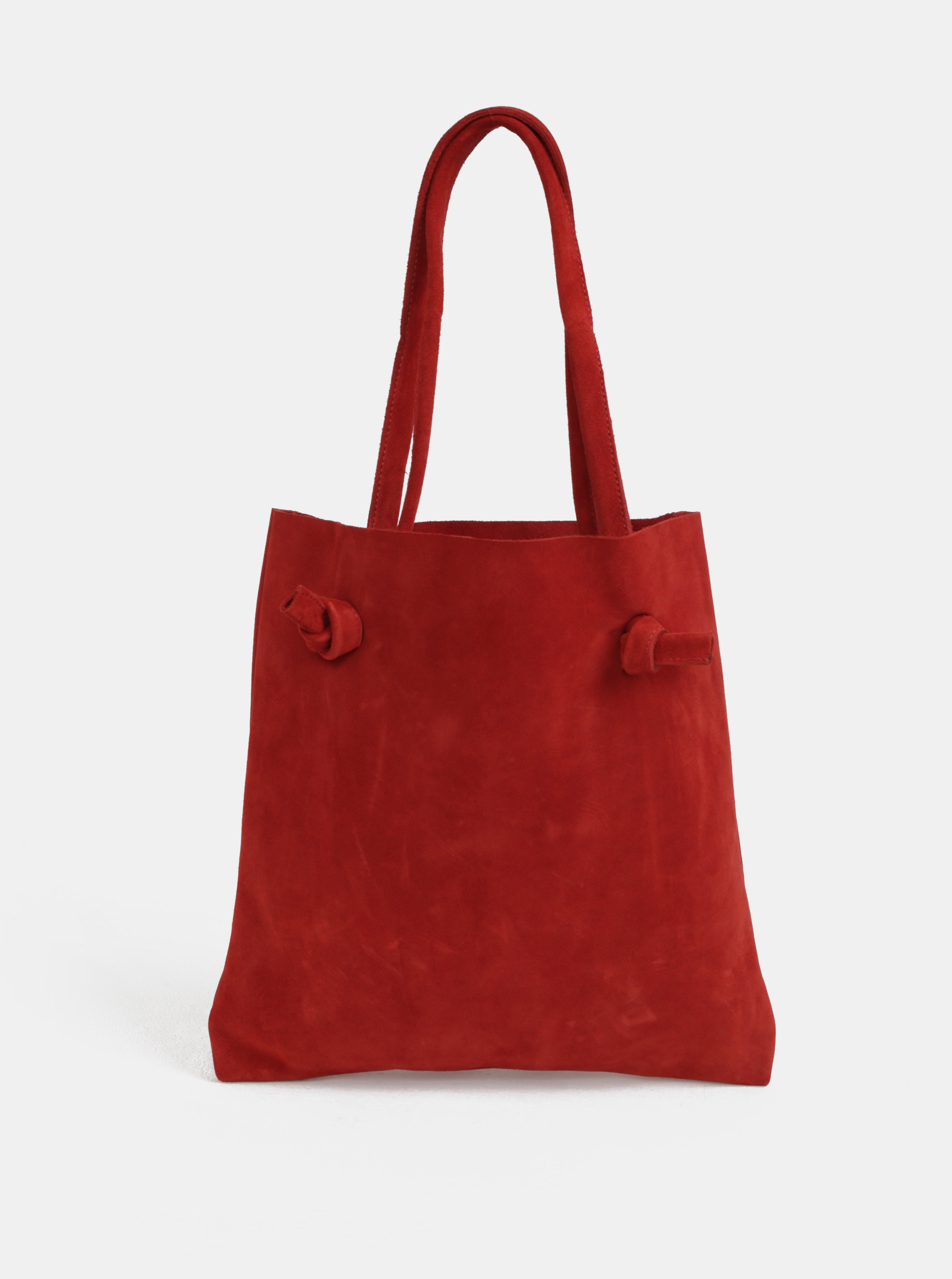 cfaf69a82f Červená kožená taška přes rameno s uzly WOOX Tegula Simplex Purpurea