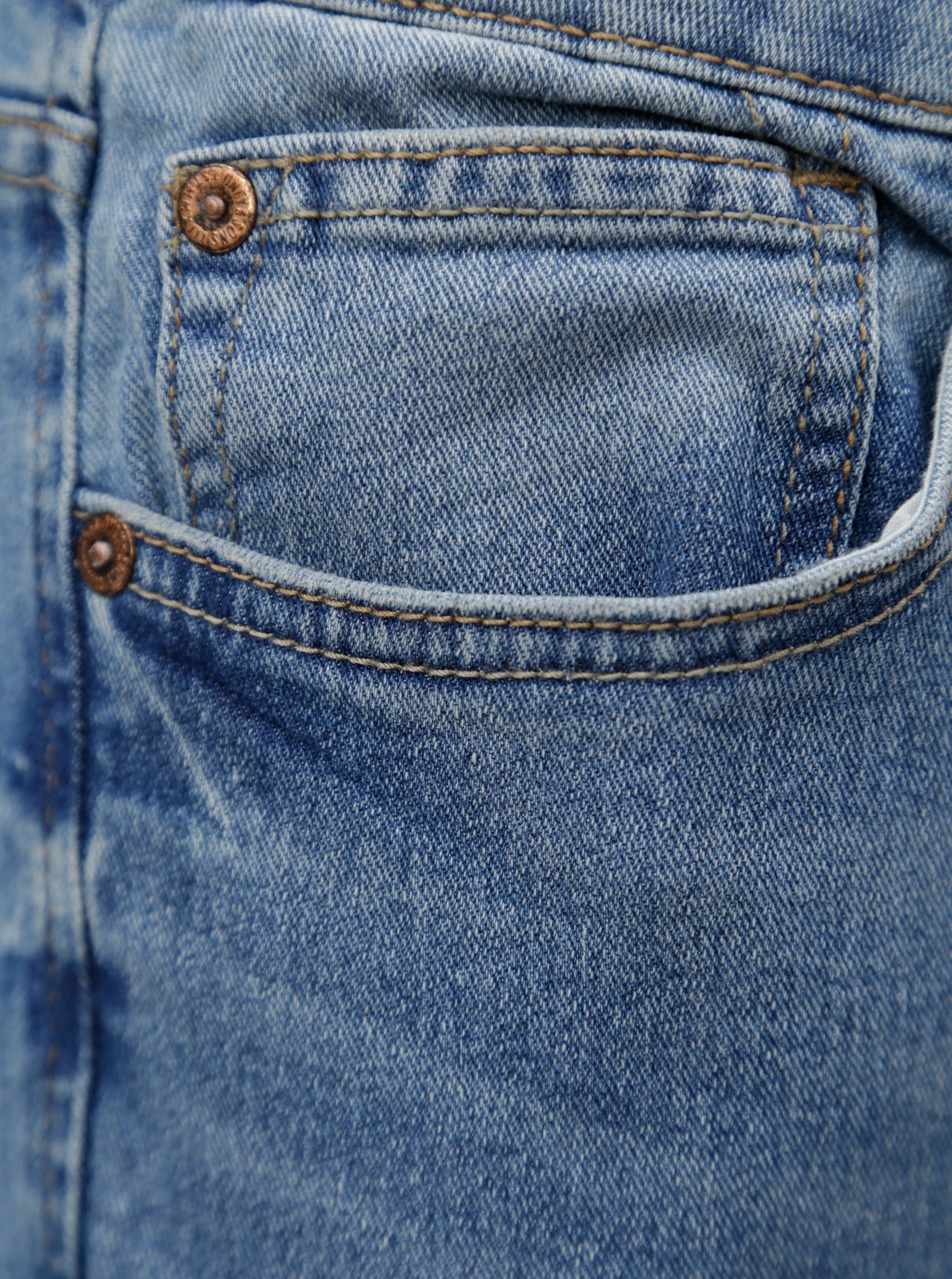 Světle modré skinny džíny s vyšisovaným efektem ONLY   SONS Extreme ... afdc3fe468