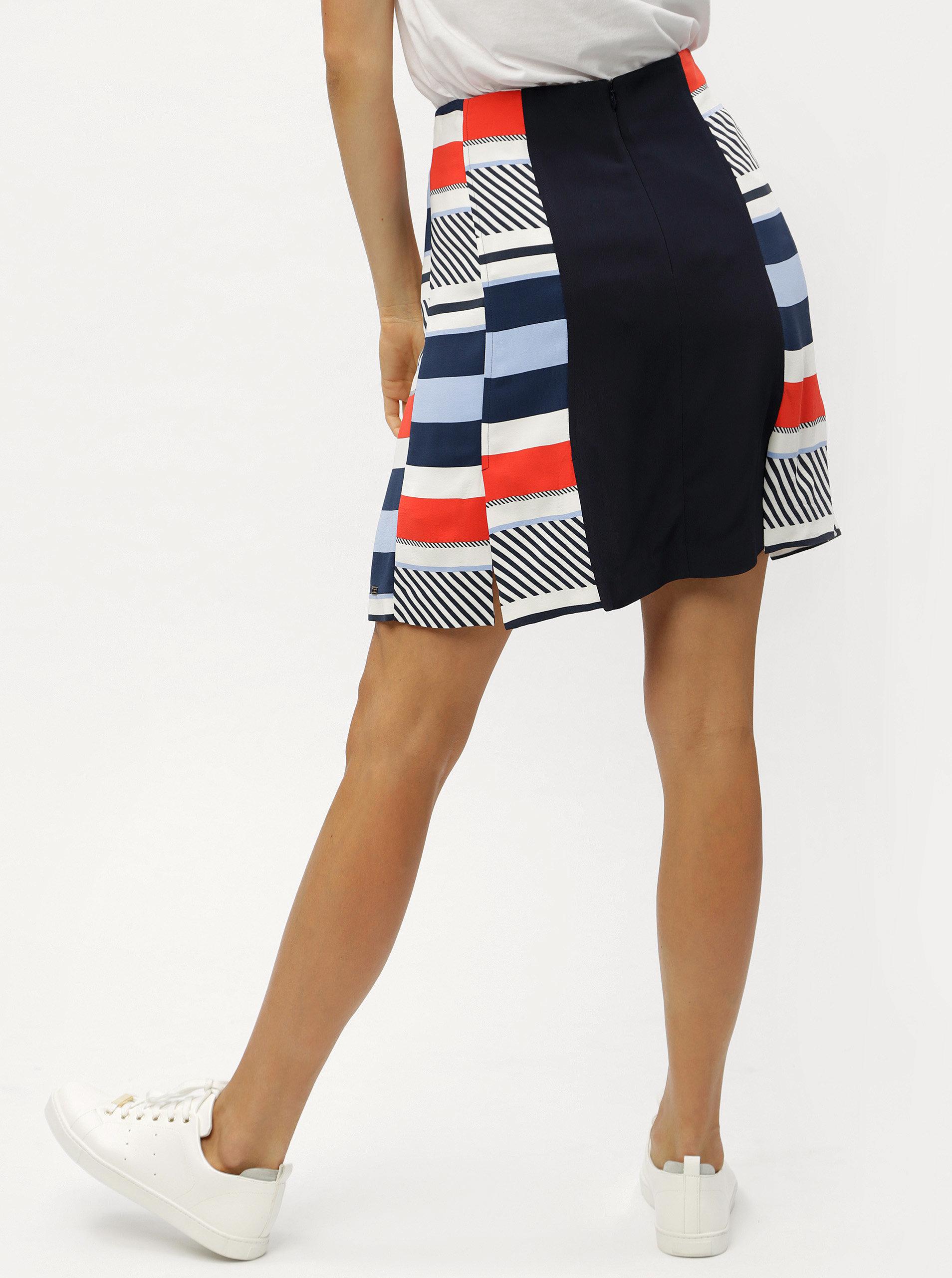 ba99127d7e Tmavomodrá vzorovaná áčková sukňa Tommy Hilfiger ...