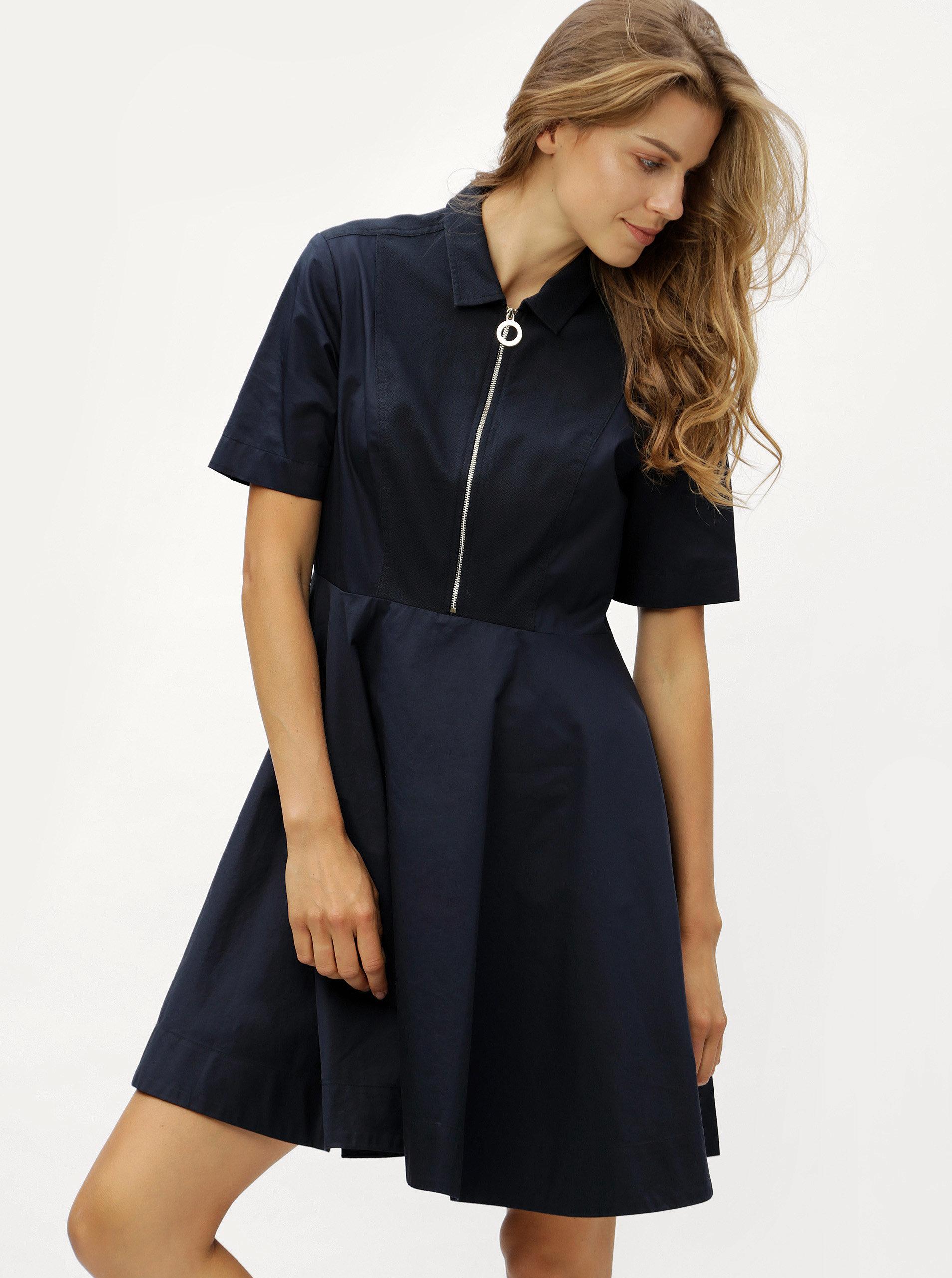 Tmavě modré šaty se zipem Tommy Hilfiger ... 35d7f0f8443