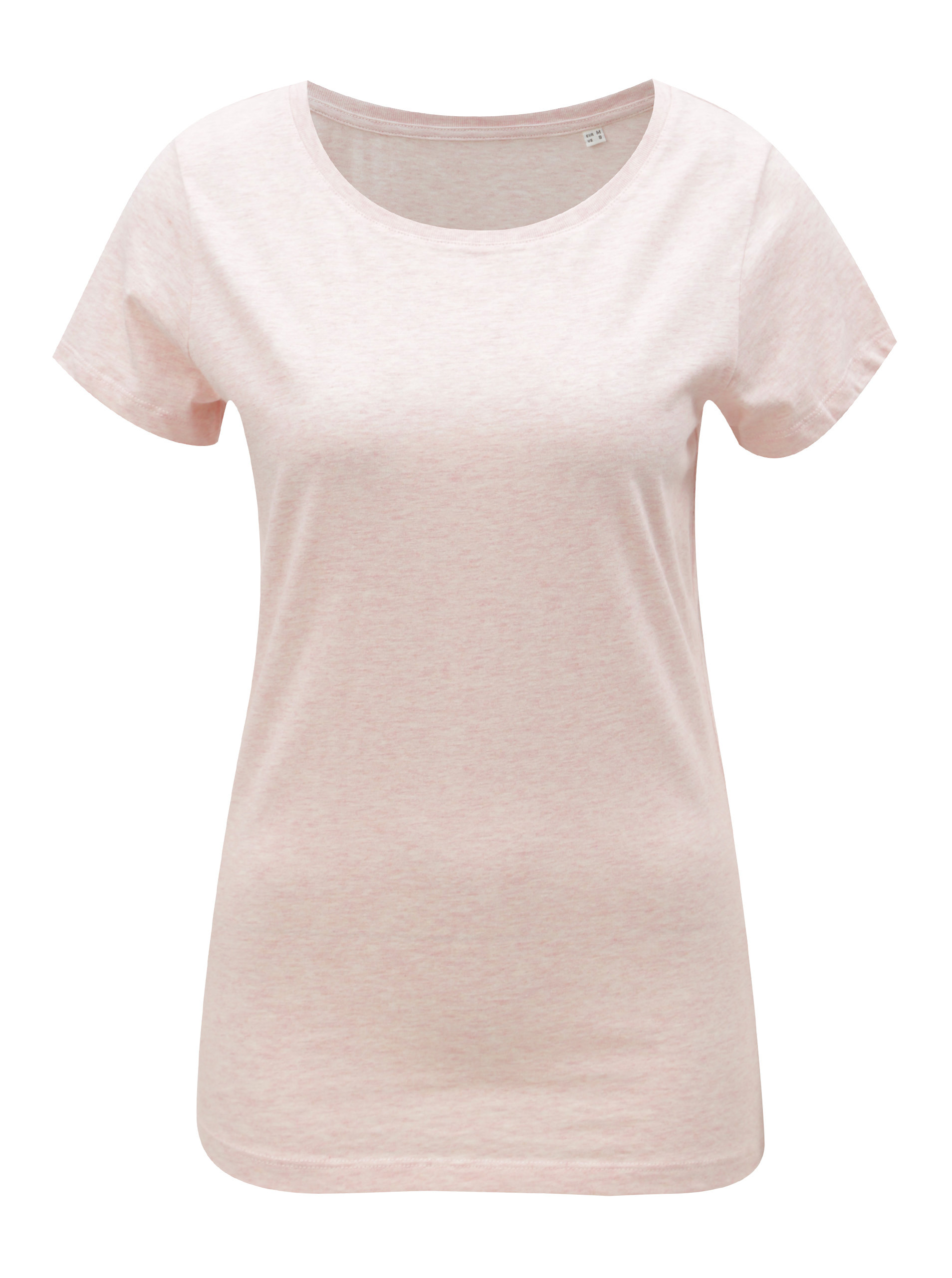 Světle růžové dámské žíhané tričko Stanley   Stella Wants ... e5b22cc5faa