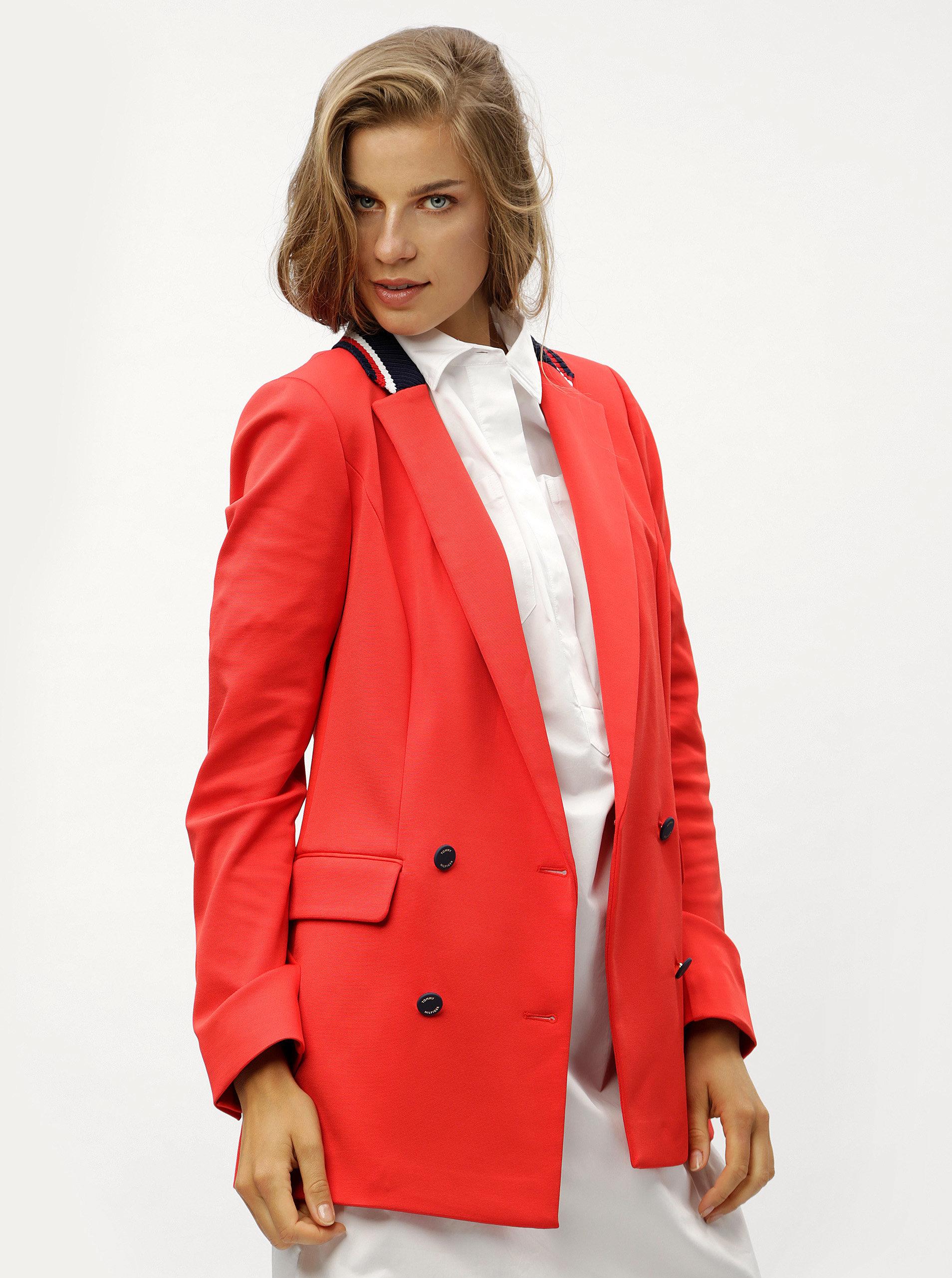 Červené dámské sako Tommy Hilfiger ... eba6738d4a