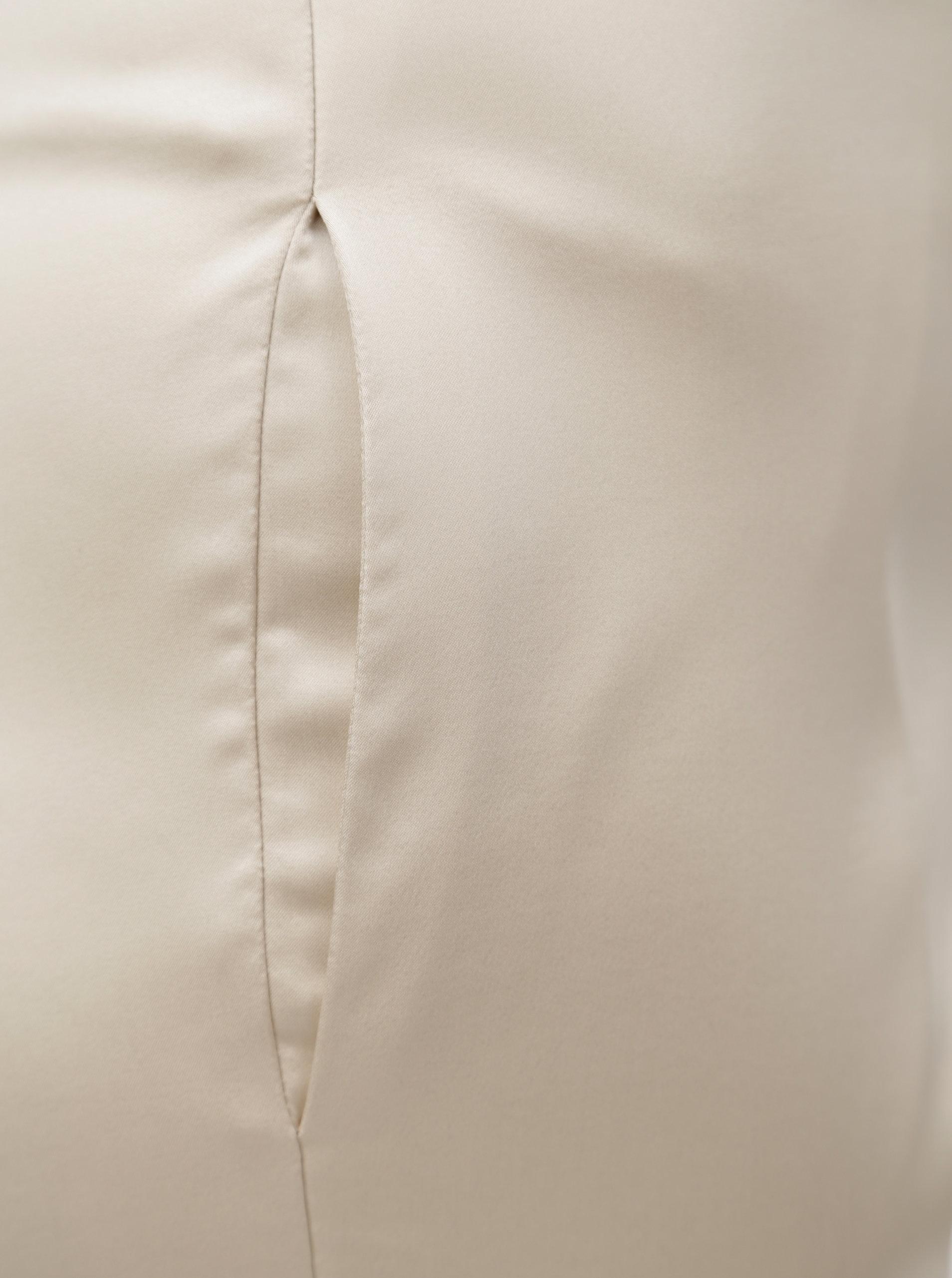 Béžové dámské chino kalhoty s.Oliver