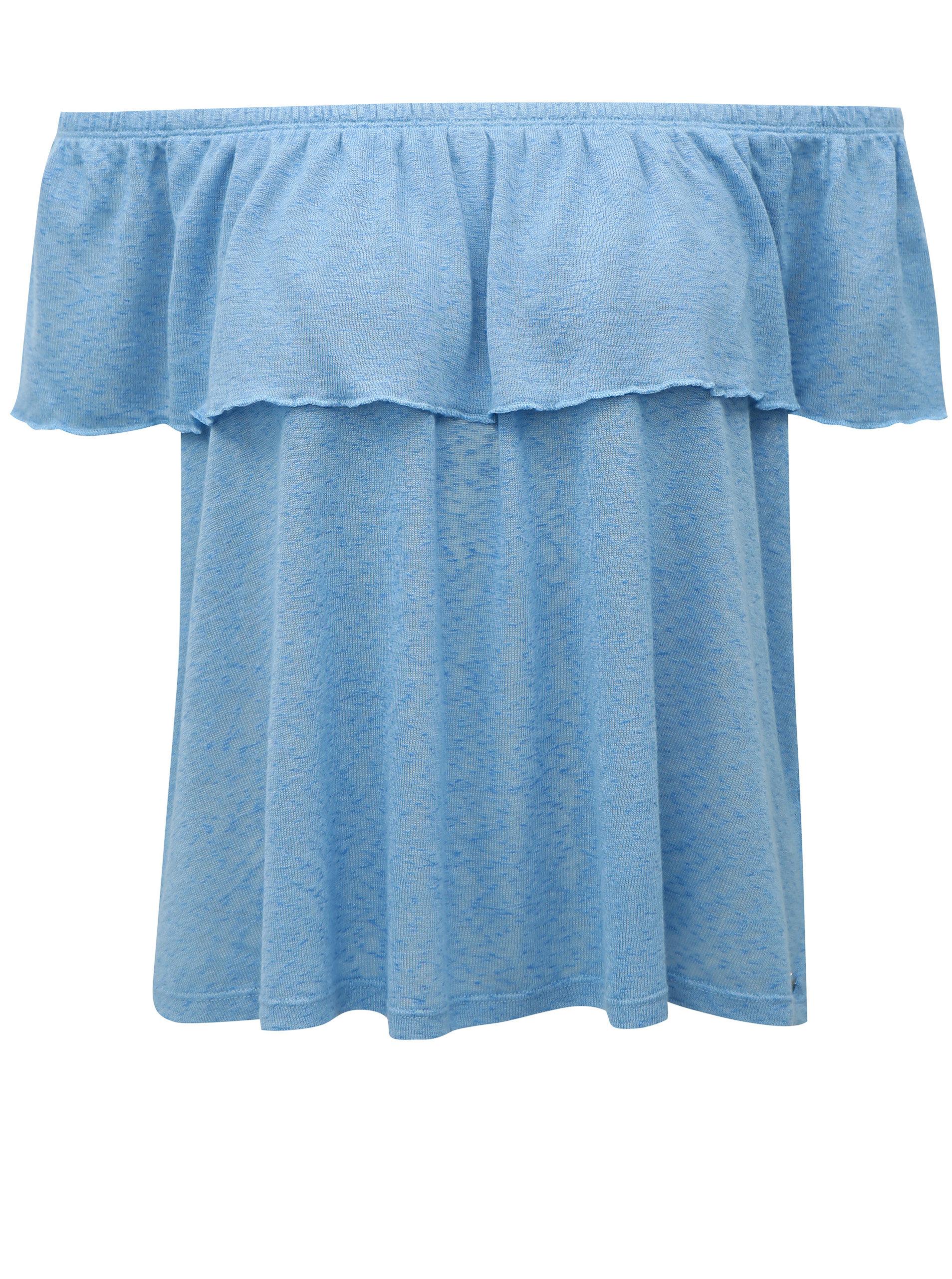 0f1f95ff0f Modrá blúzka s odhalenými ramenami Broadway Fleta ...