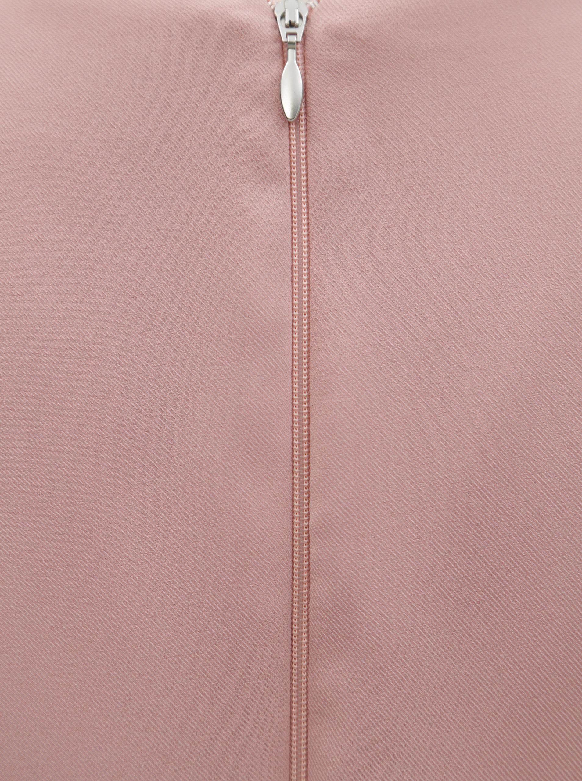 Ružové puzdrové šaty s opaskom Paper Dolls ... f613bfedbee