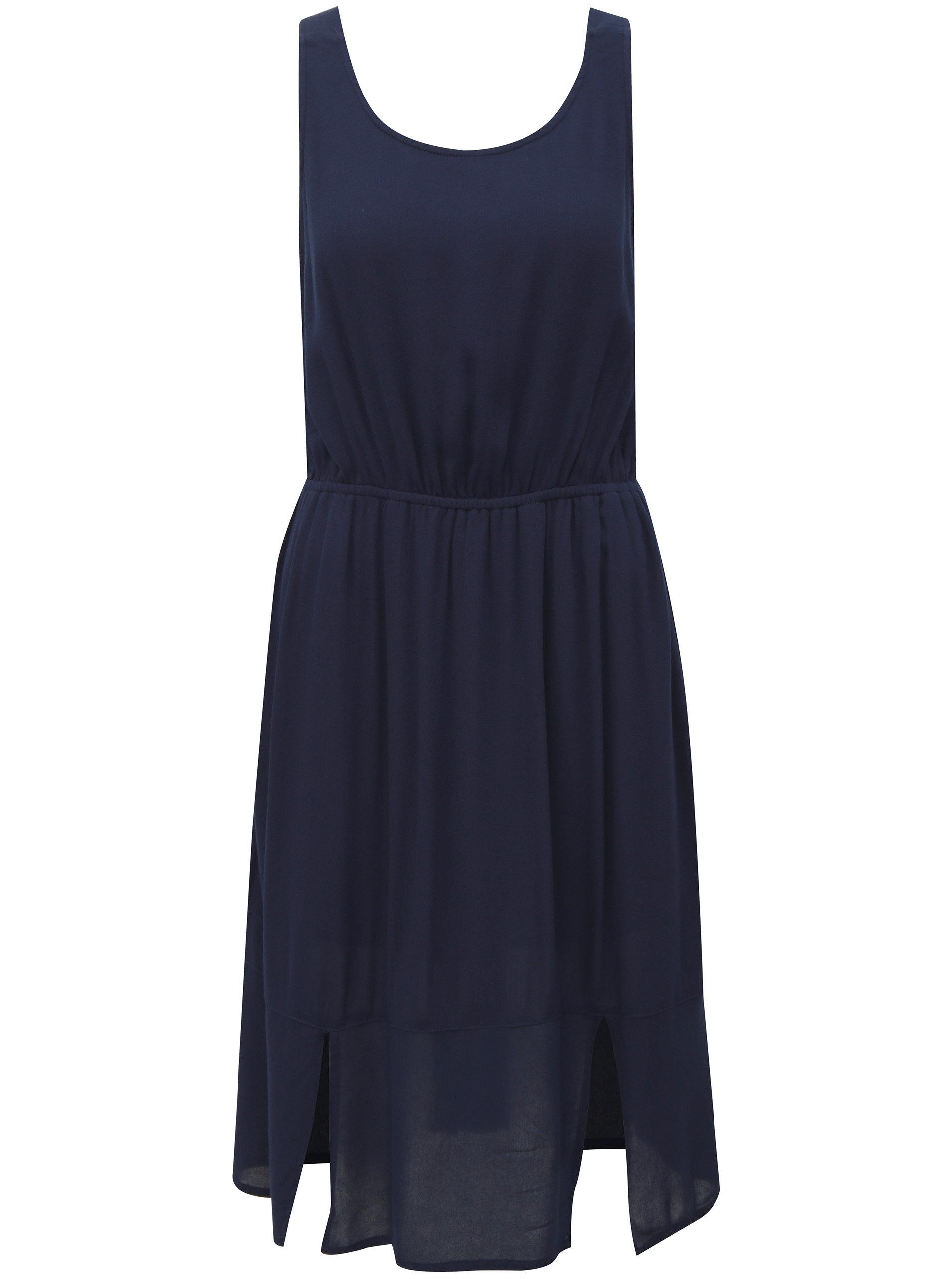 20ad71a3dc26 Tmavě modré šaty s mašlí na zádech Broadway Farva ...