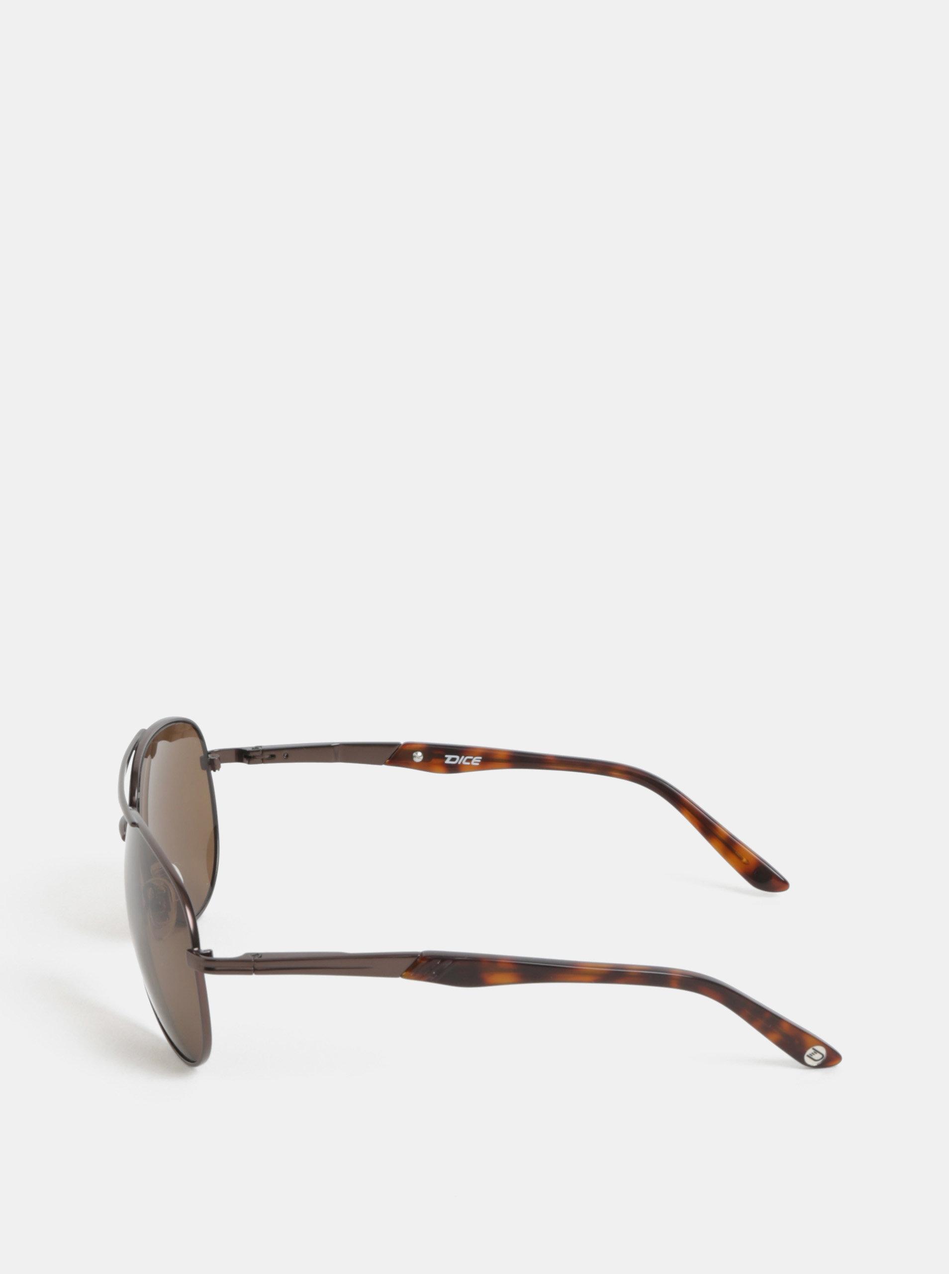 Hnedé pánske slnečné okuliare Dice ... b33e2857afd