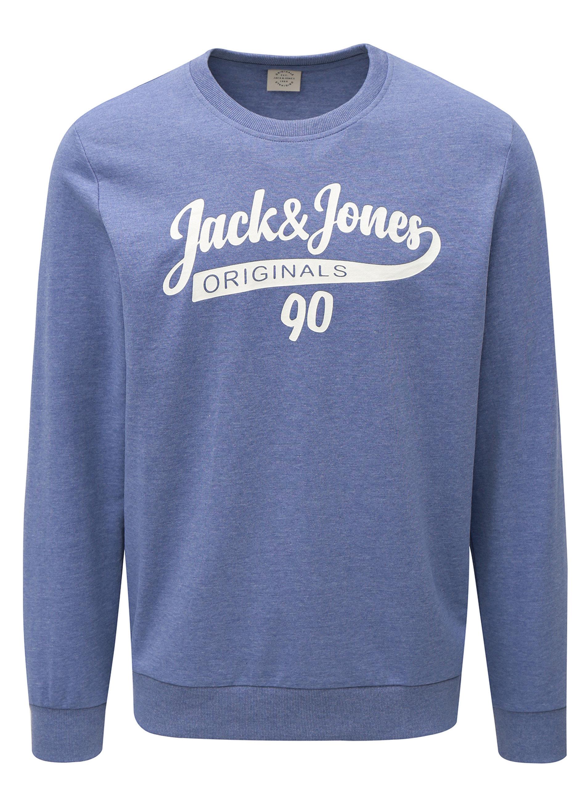 Fialová žíhaná mikina s potiskem Jack   Jones ... 3ec1997dd9