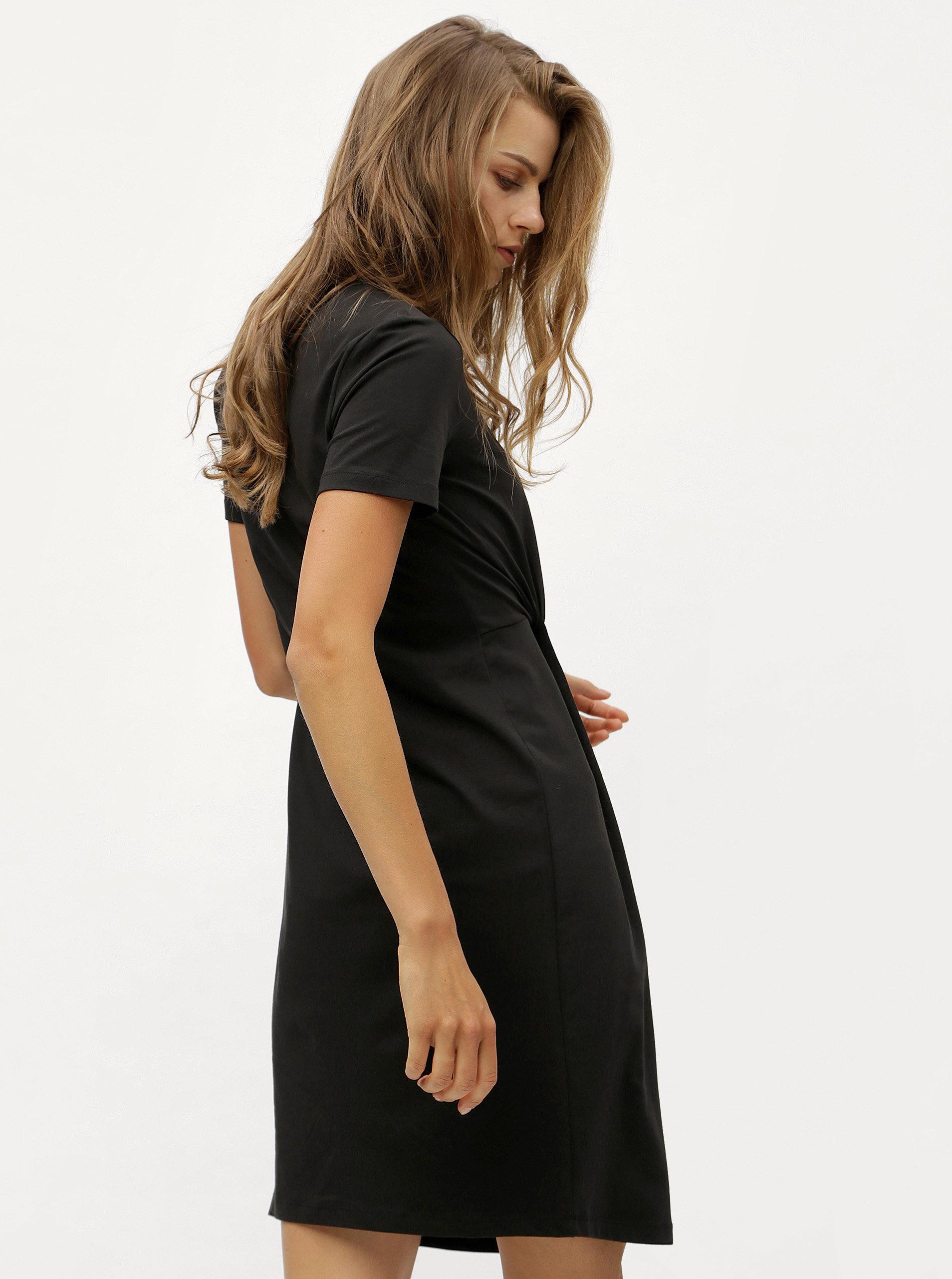 5cca875645d8 Čierne šaty s uzlom Jacqueline de Yong Domino ...