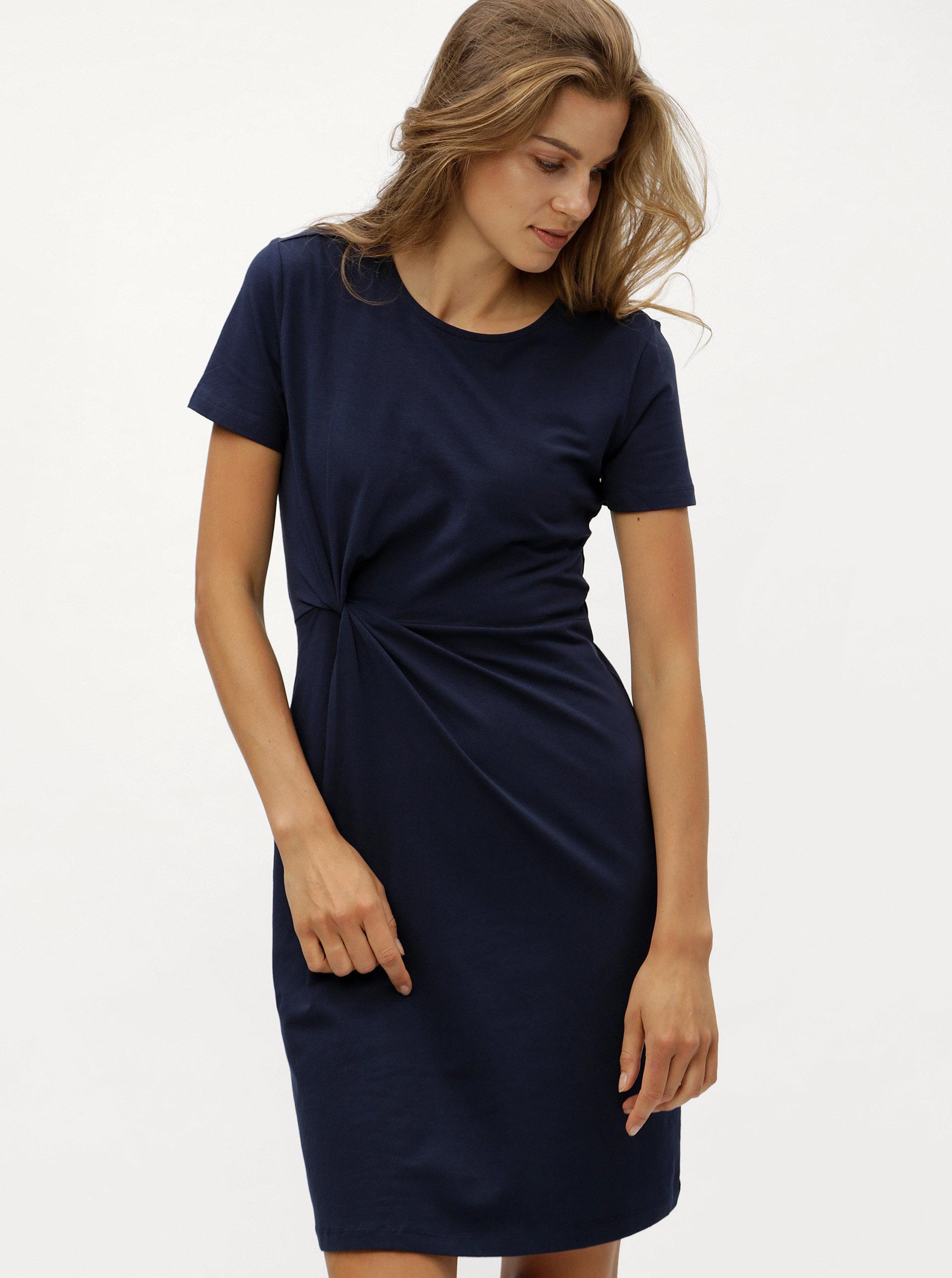 bdbfb281b119 Tmavomodré šaty s uzlom Jacqueline de Yong Domino ...