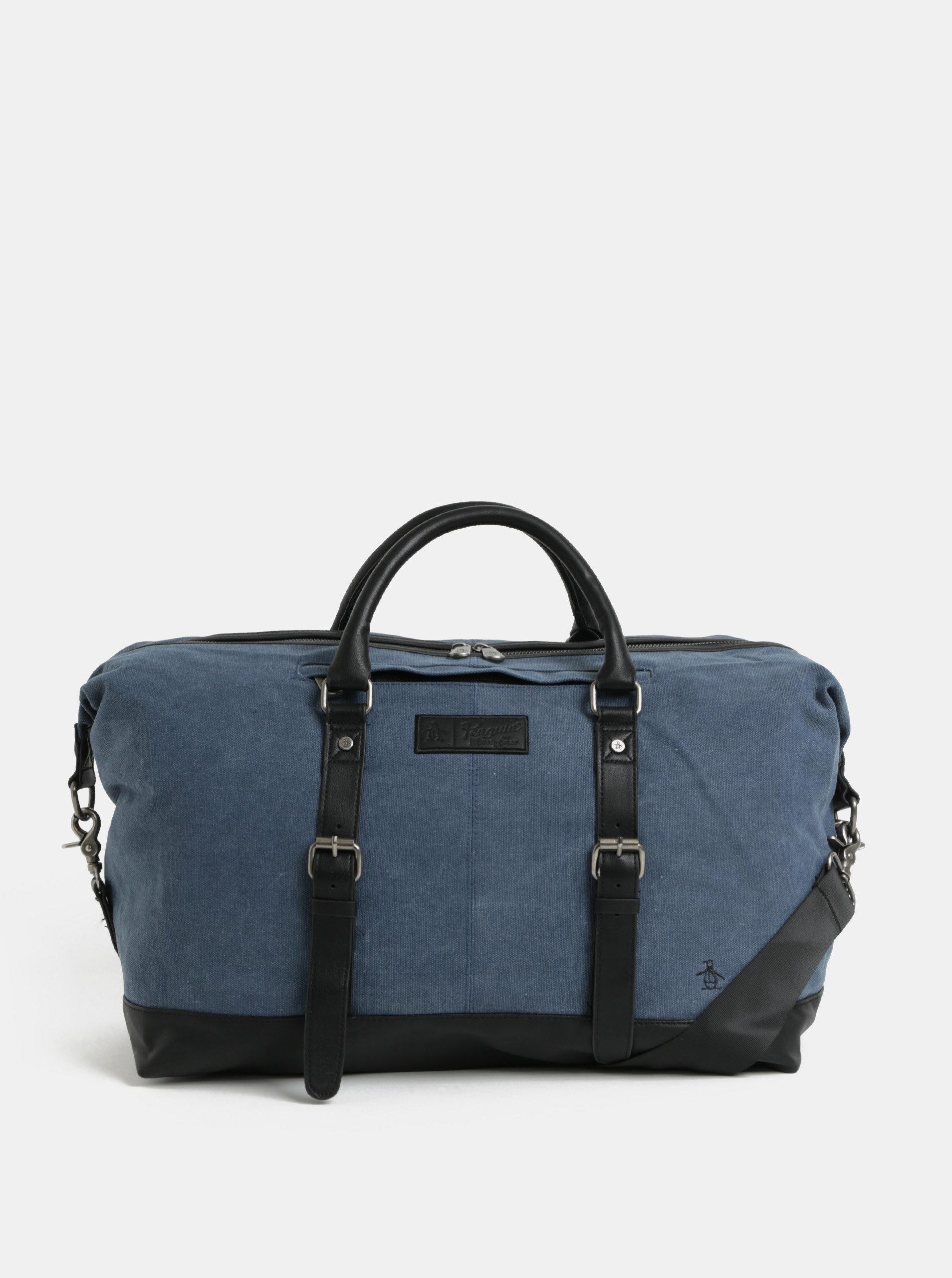 Tmavě modrá cestovní taška Original Penguin Rems Holdall