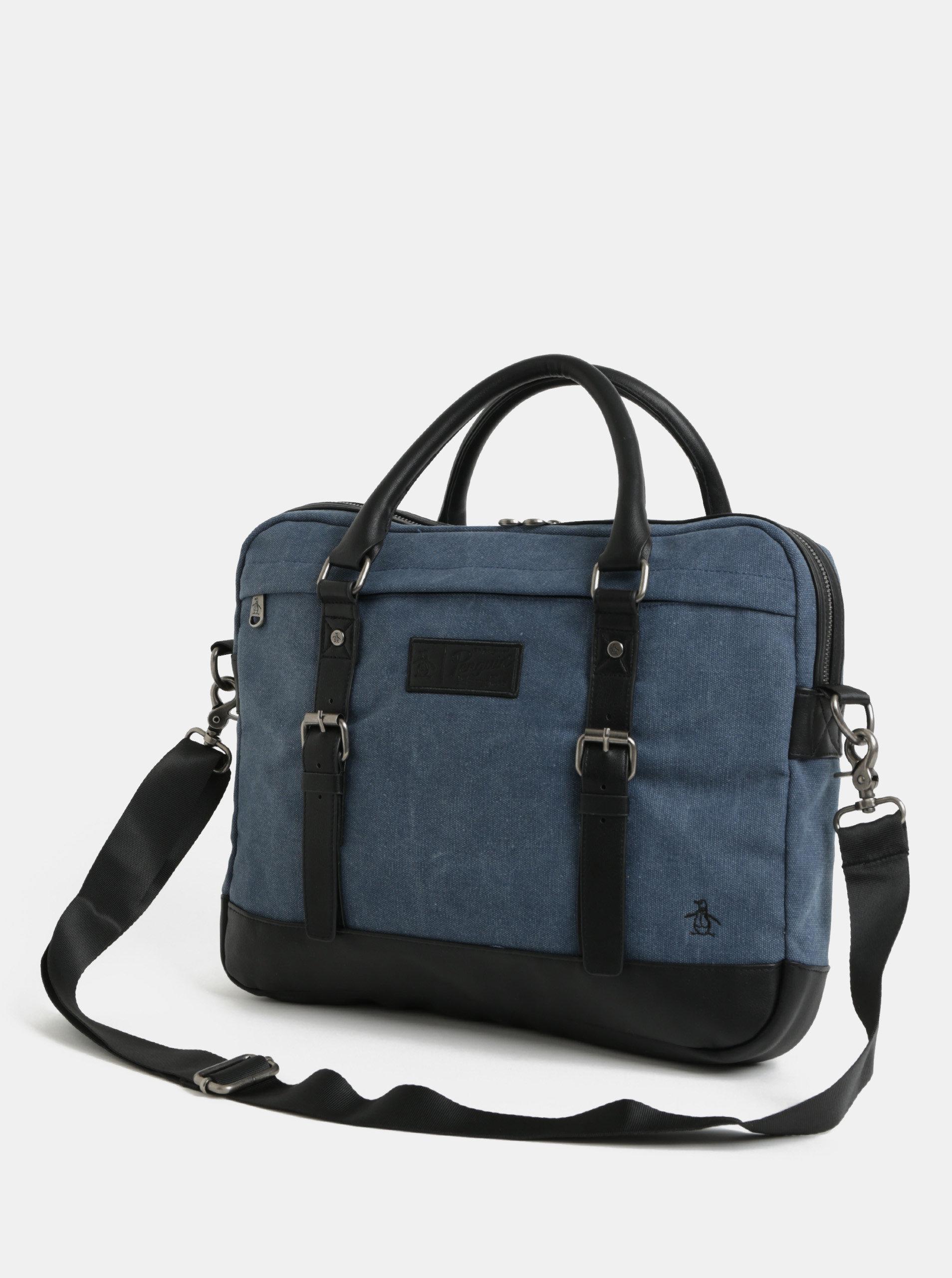 55c3306fe5 Tmavě modrá taška na notebook Original Penguin Tides Document Bag 15