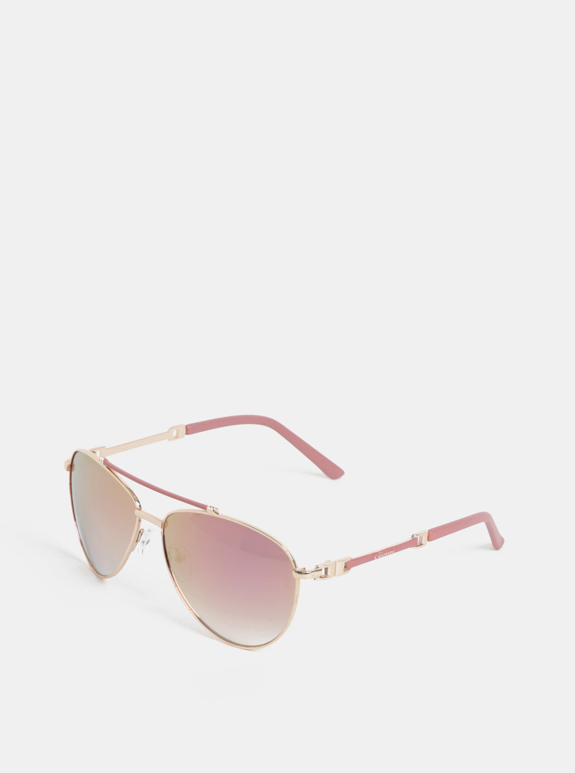 Růžové sluneční brýle s pouzdrem Gionni
