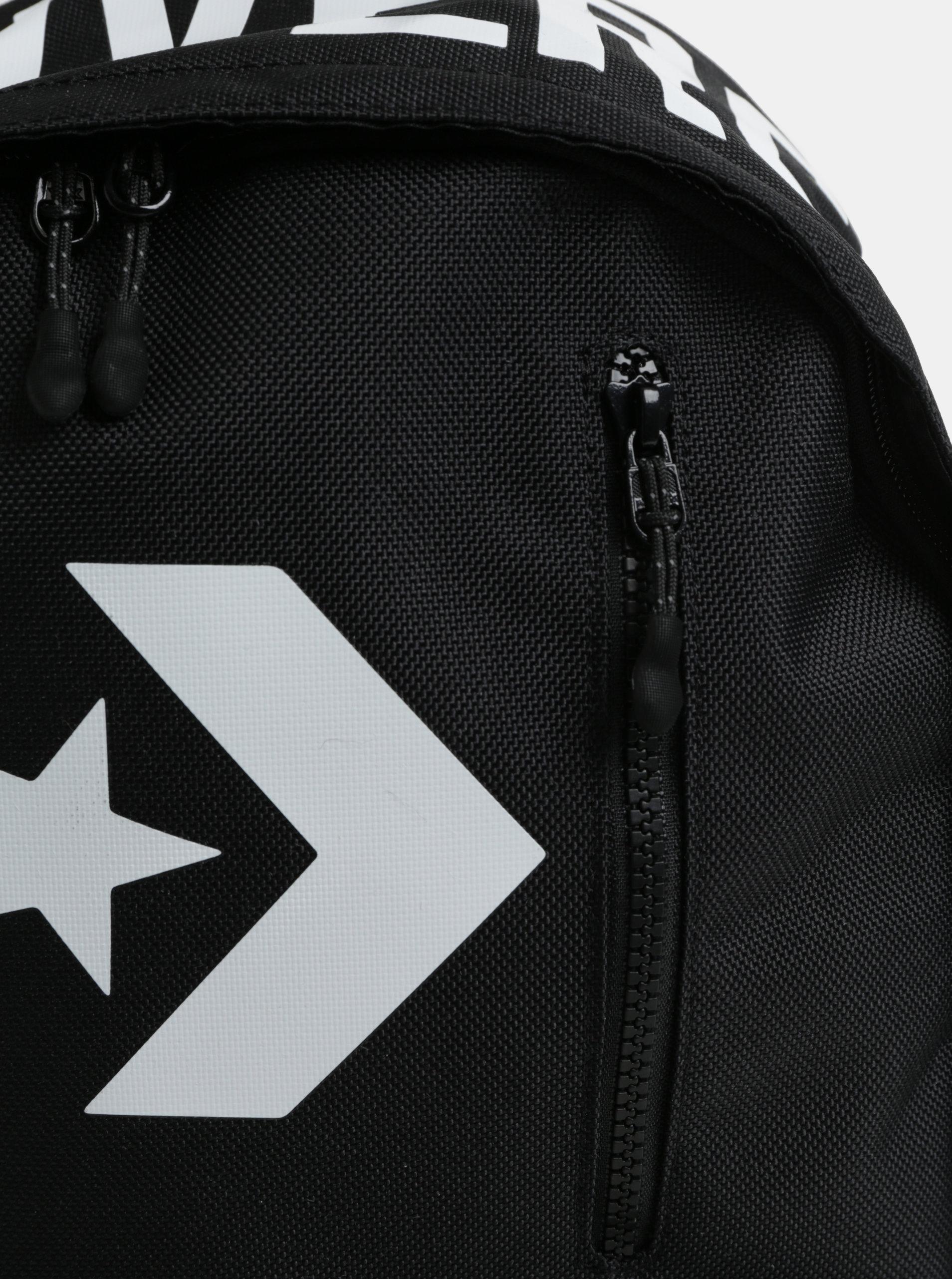Černý voděodolný batoh s potiskem Converse Street 22 Backpack ... e7ec85d0dd