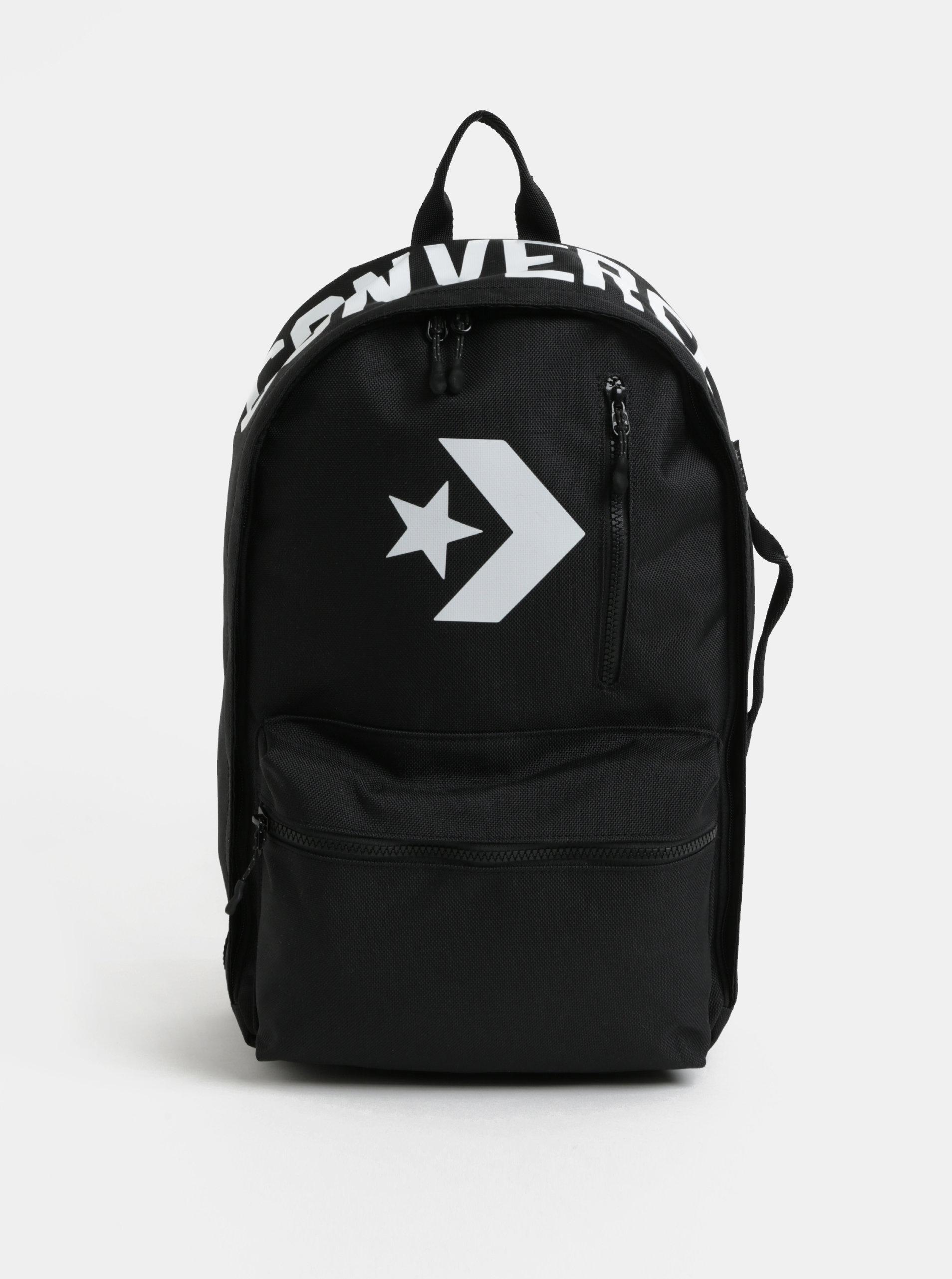 Černý voděodolný batoh s potiskem Converse Street 22 Backpack ... 158179d933