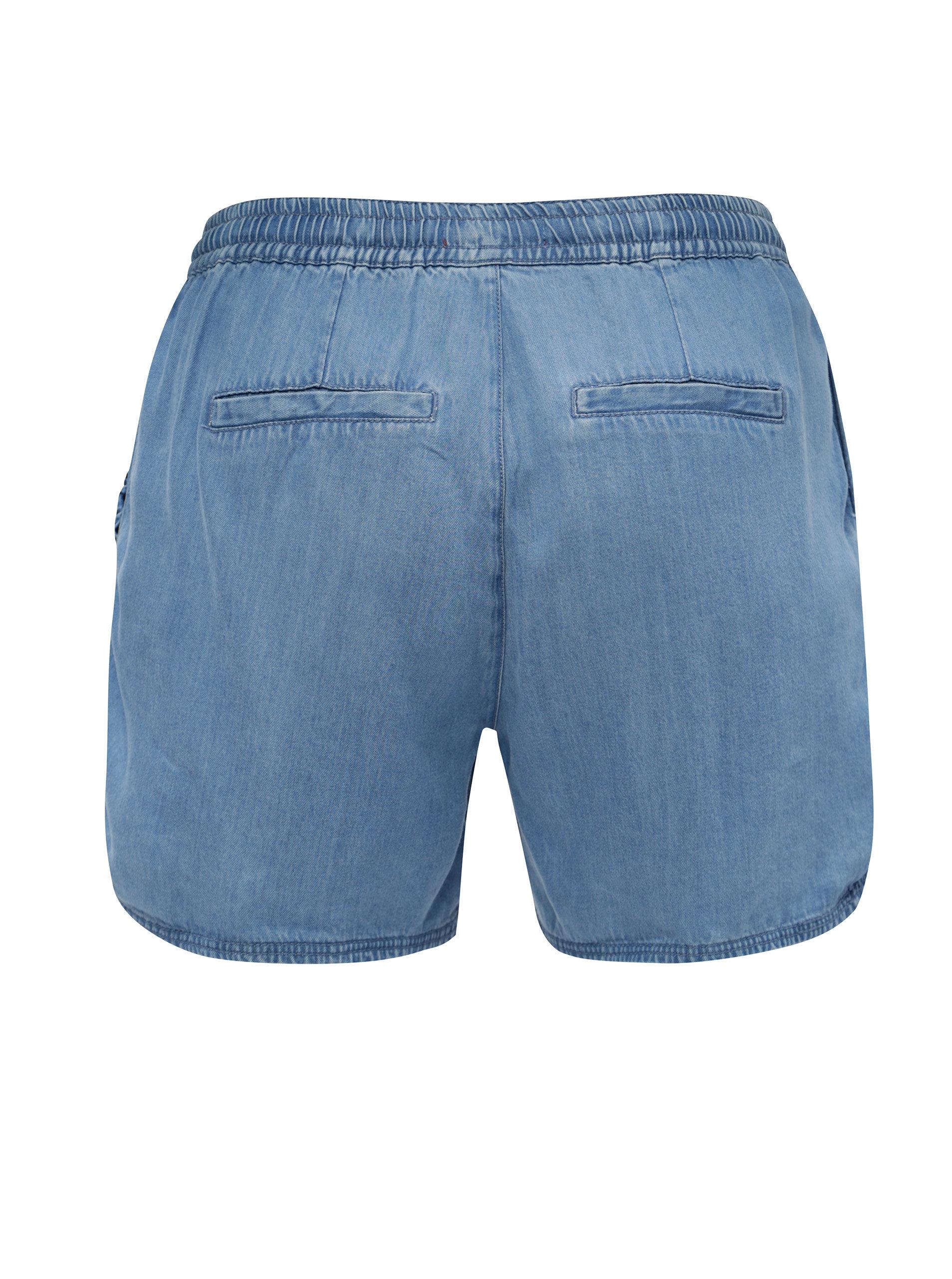Modré dámské džínové kraťasy s.Oliver  23e2495aac