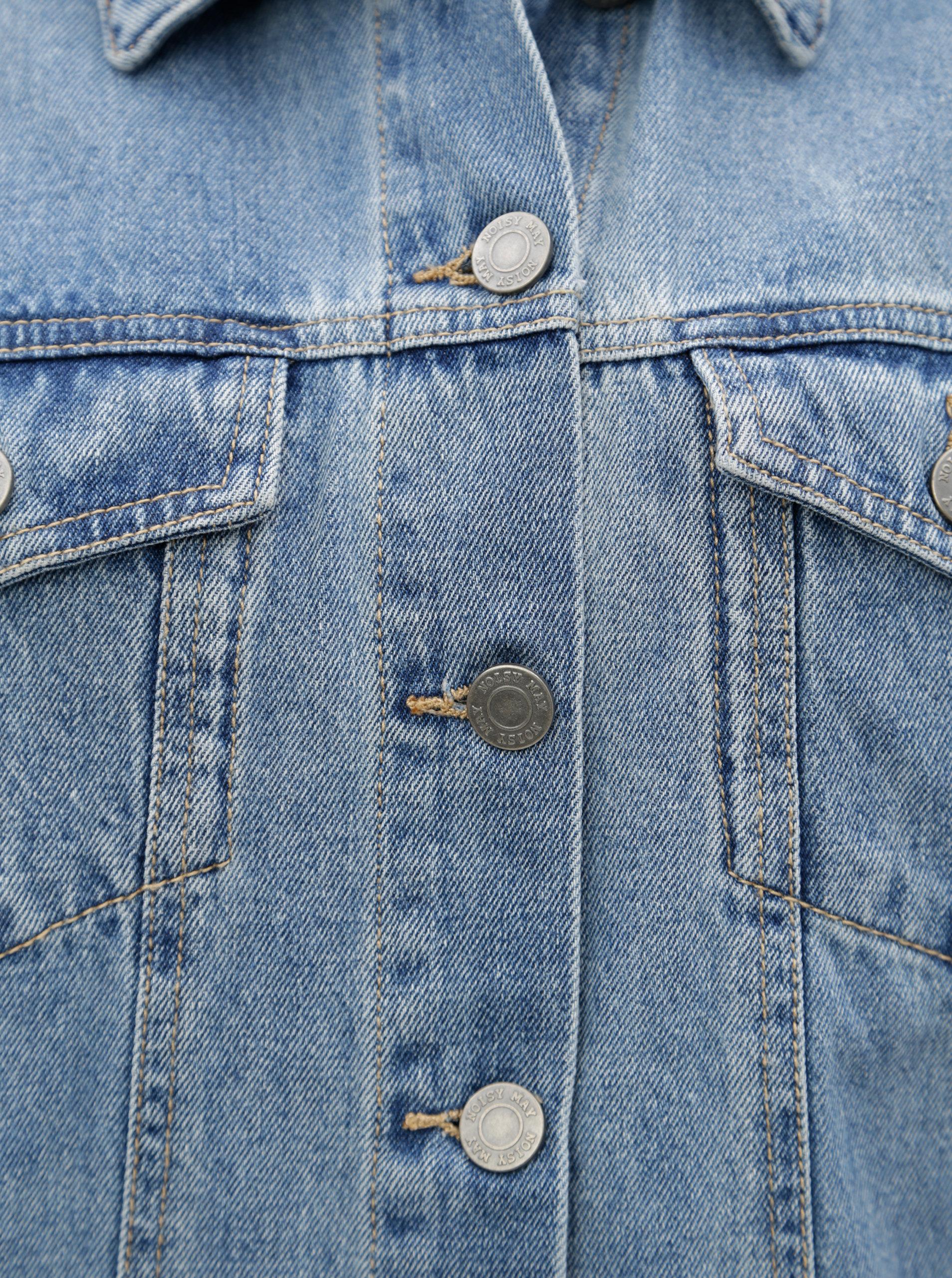 a77f46880434 Modro-krémová rifľová bunda s vreckami Noisy May Oli ...