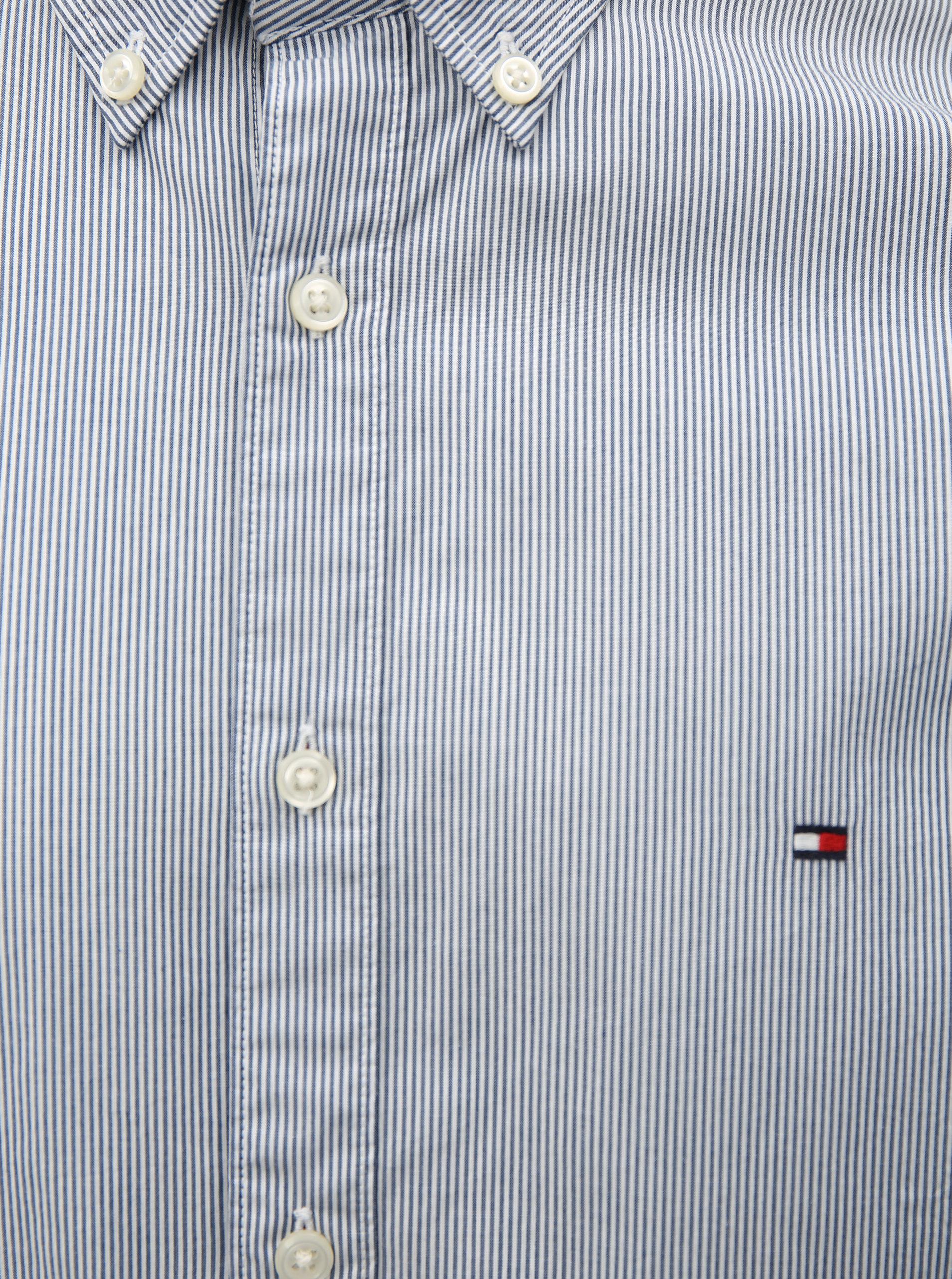 Bielo-modrá pánska slim fit pruhovaná košeľa Tommy Hilfiger ... 34532cffa65