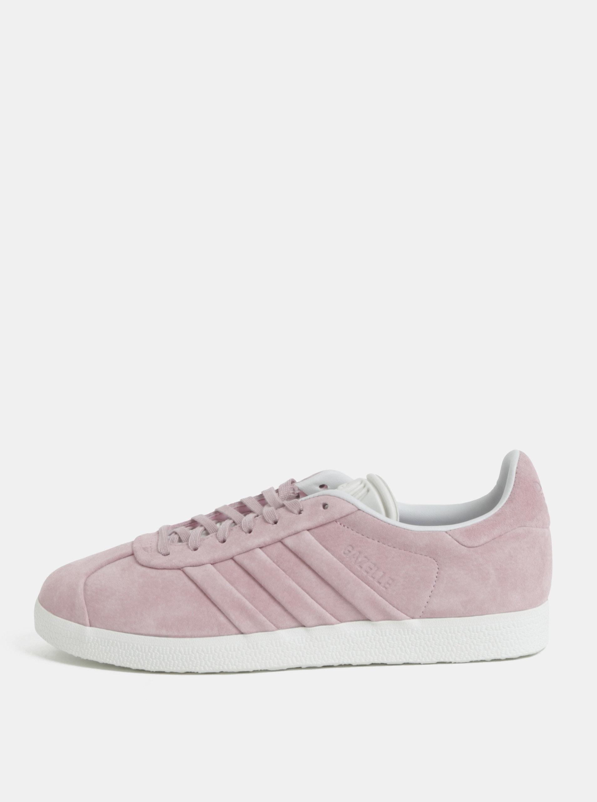 Ružové dámske semišové tenisky adidas Originals Gazelle ... 235515bd2b0