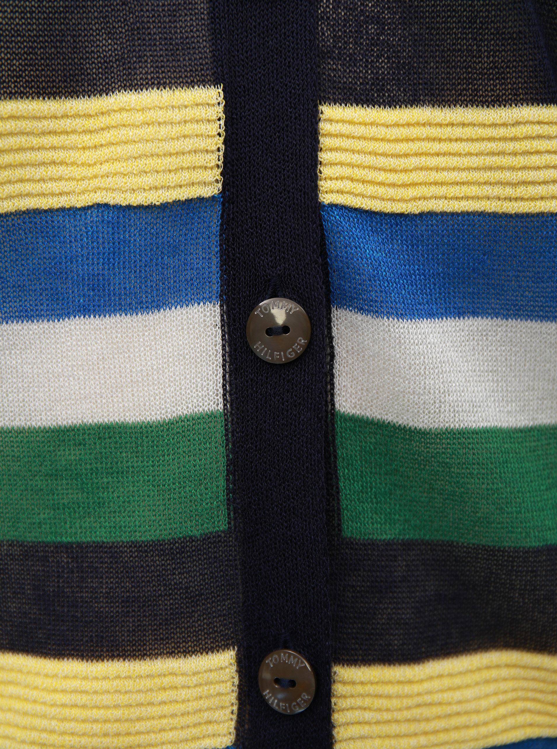 b97c4606058 Zeleno-modrý dámský průsvitný kardigan Tommy Hilfiger ...