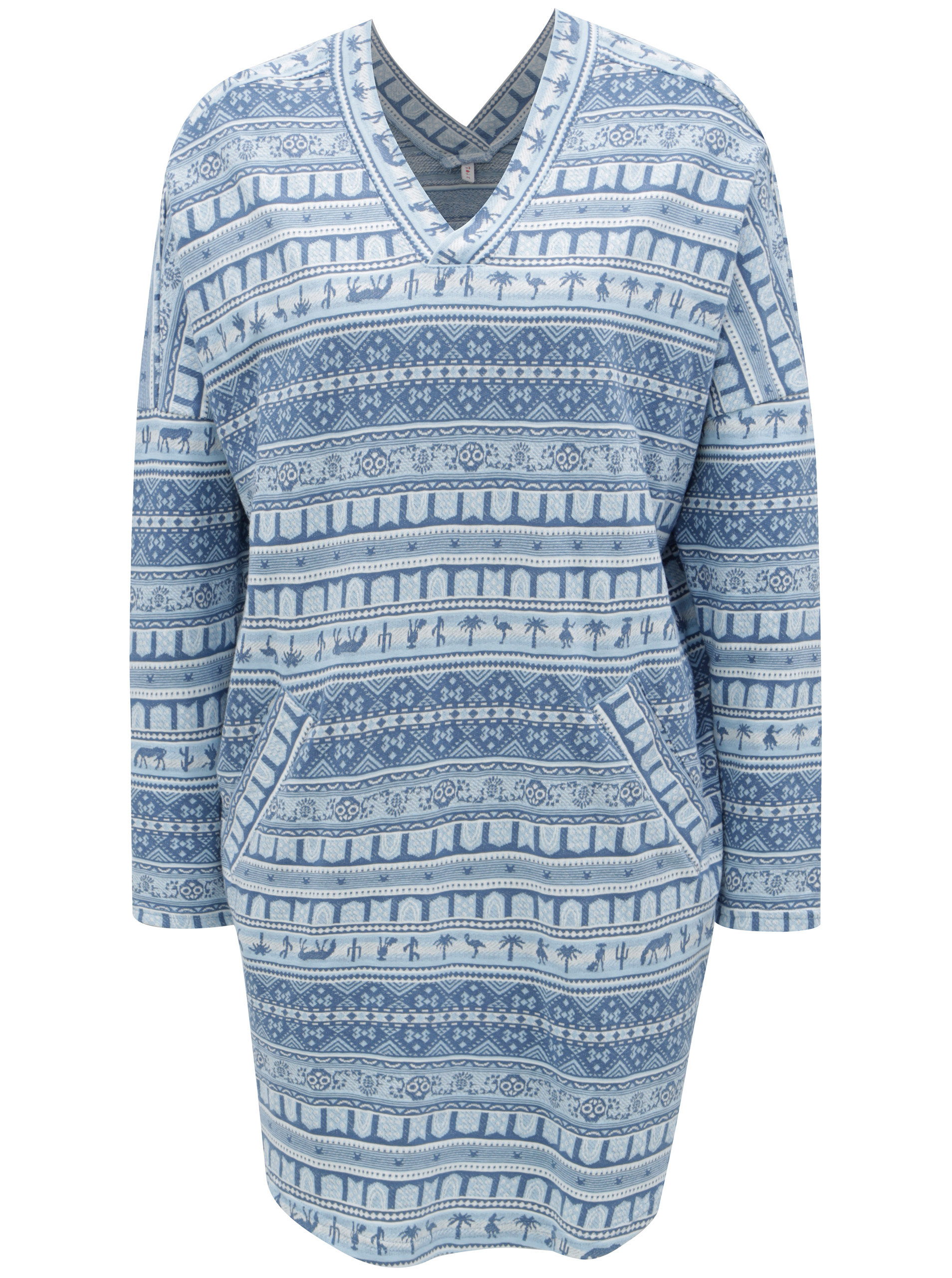 Krémovo-modré vzorované šaty Blutsgeschwister ... f602415703