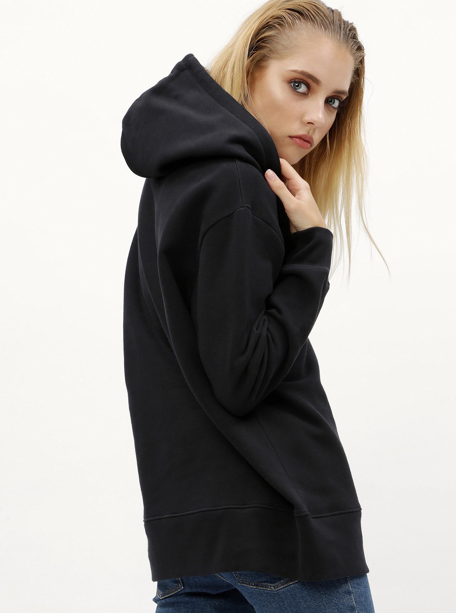 f7754e26f7 Černá dámská mikina s kapucí Calvin Klein Jeans anya ...