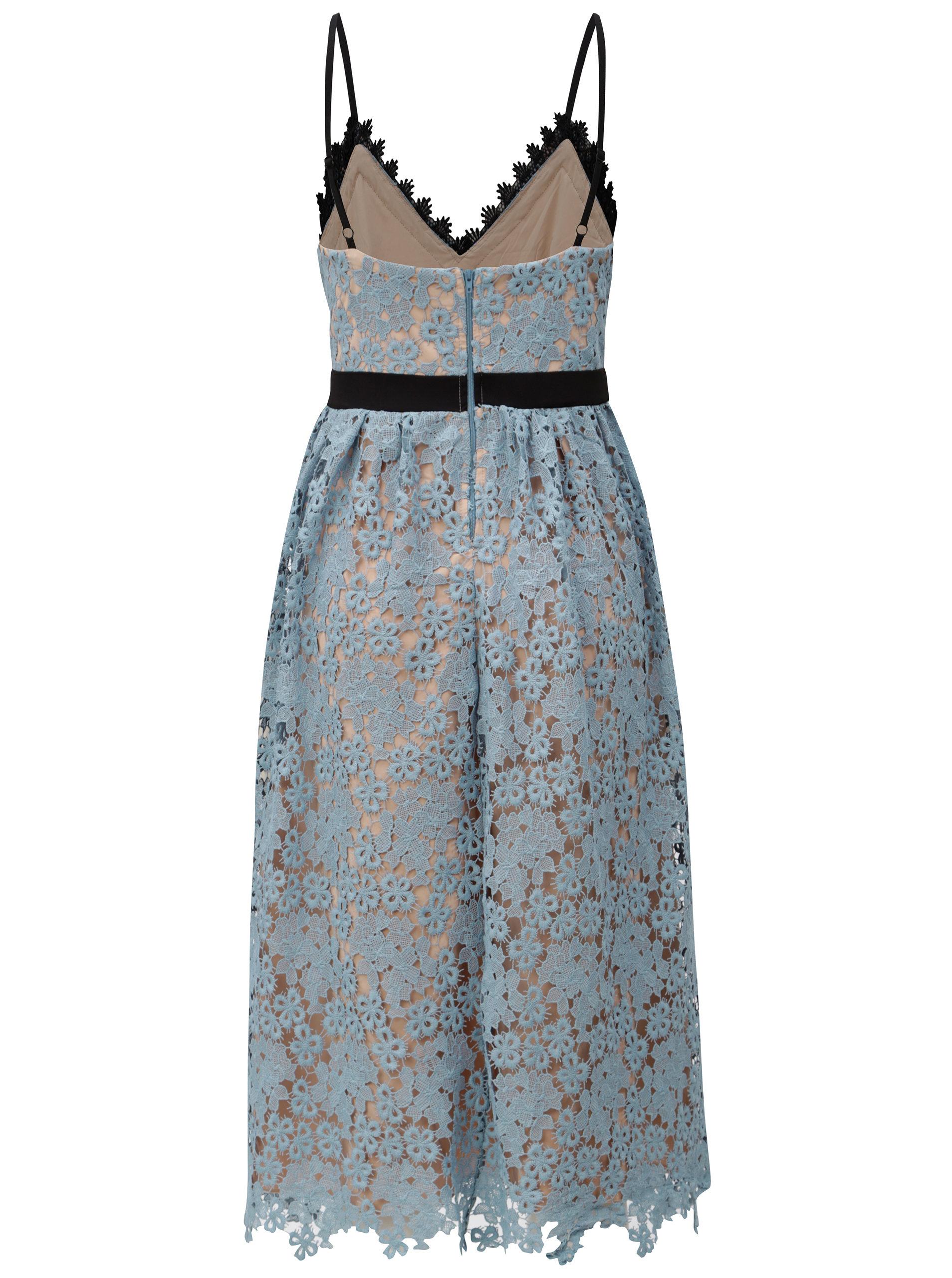 Tělovo-modré krajkové šaty Little Mistress ... bdfa2aec982