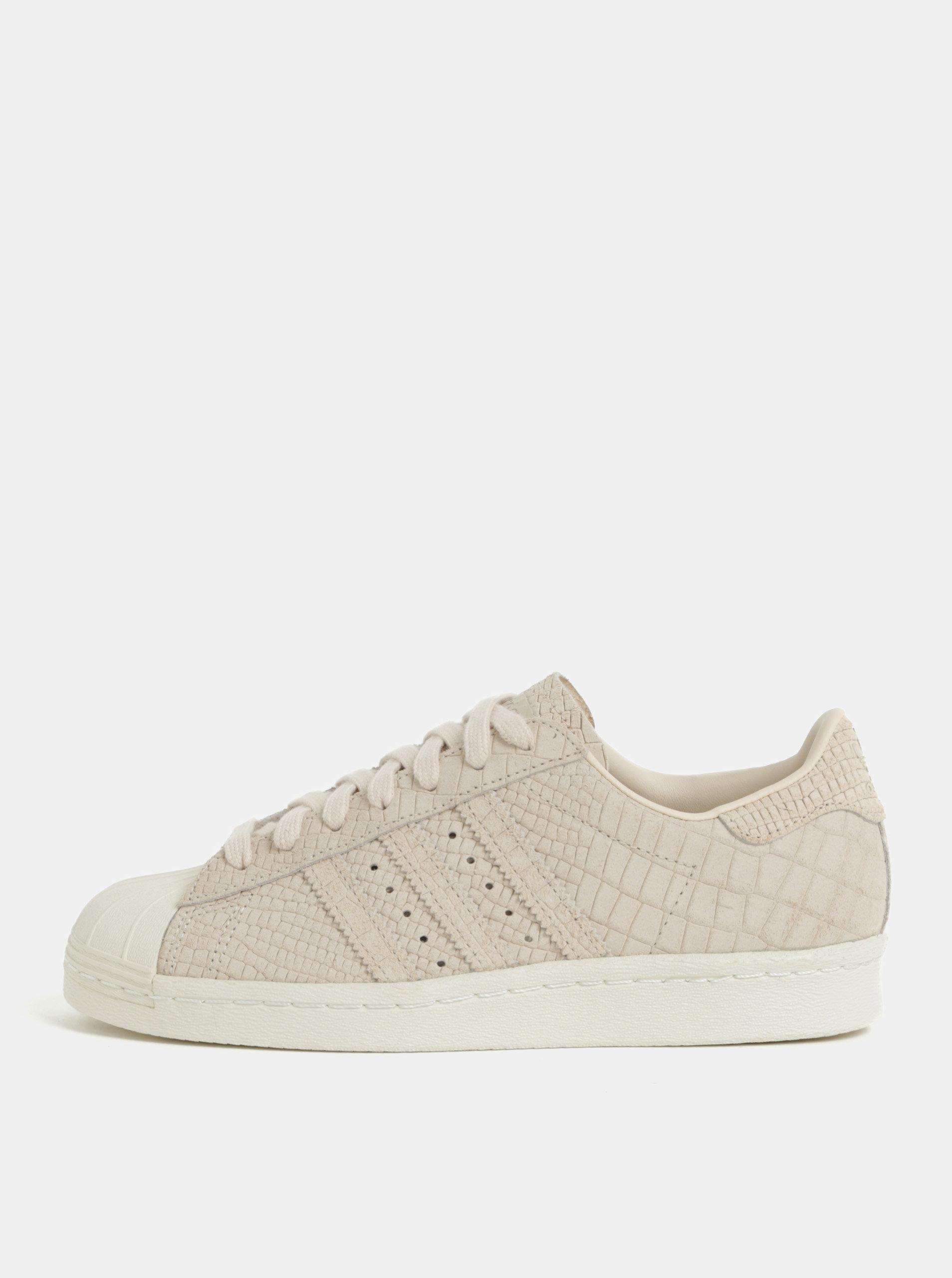Svetloružové dámske kožené tenisky adidas Originals ... c95804868a6