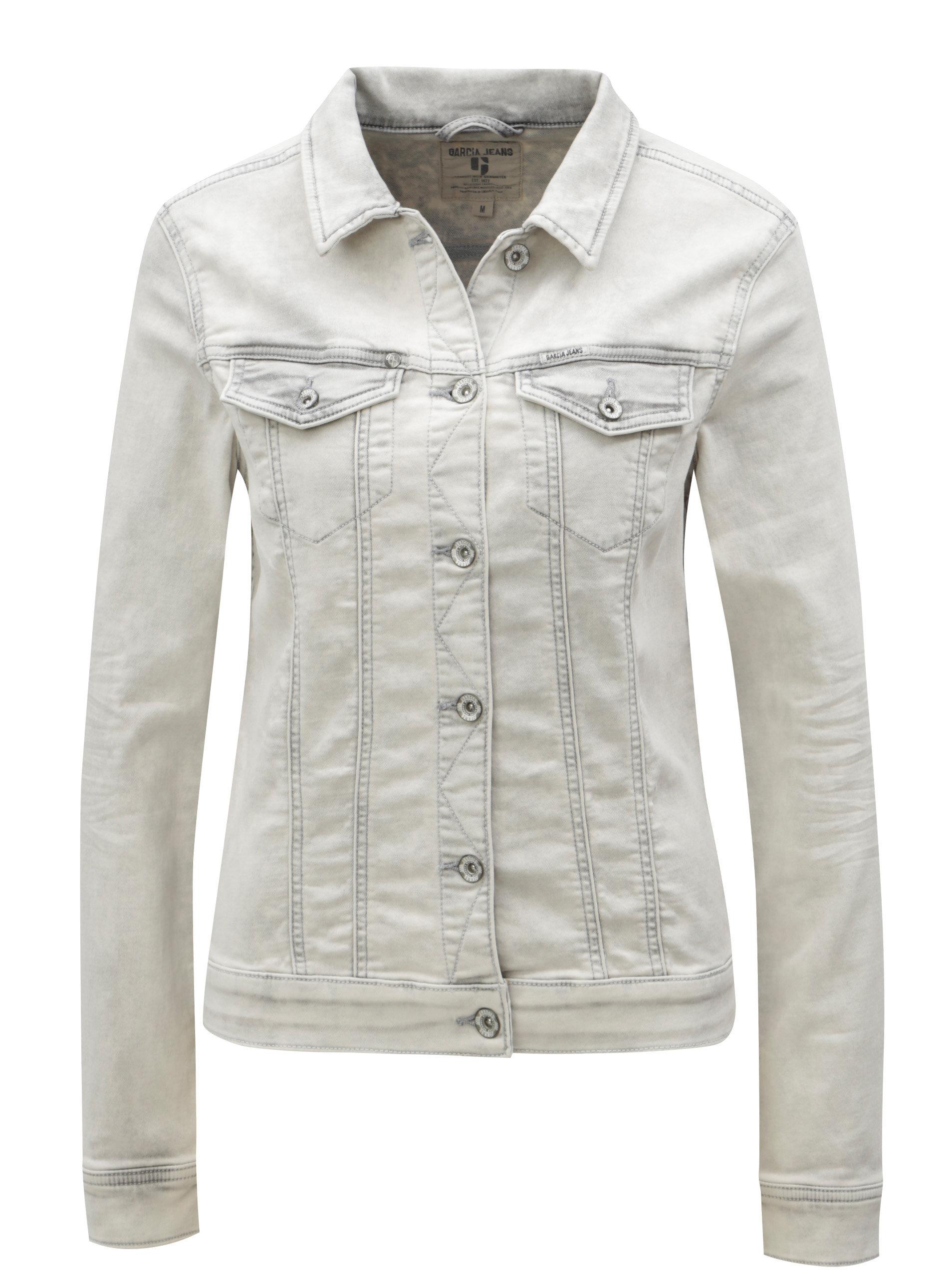 47b9f76eed Světle šedá dámská džínová bunda Garcia Jeans Sofia - SLEVA ...
