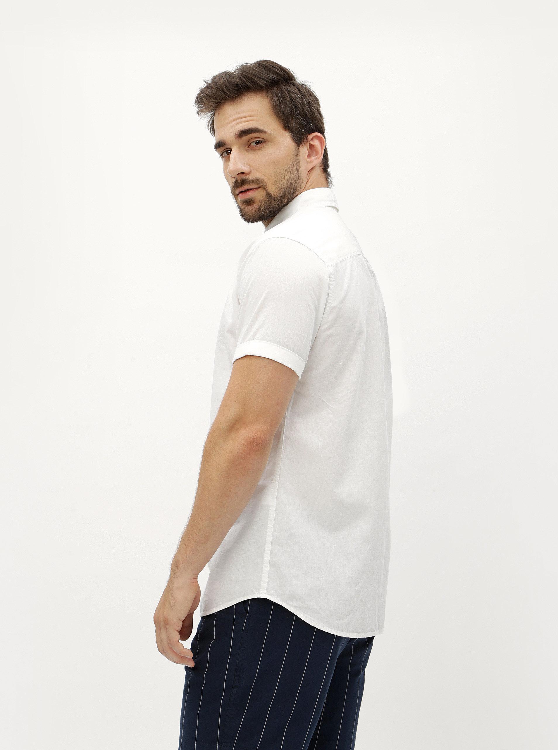 ff95e1e1d98a Biela slim fit košeľa s krátkym rukávom Jack   Jones Summer ...
