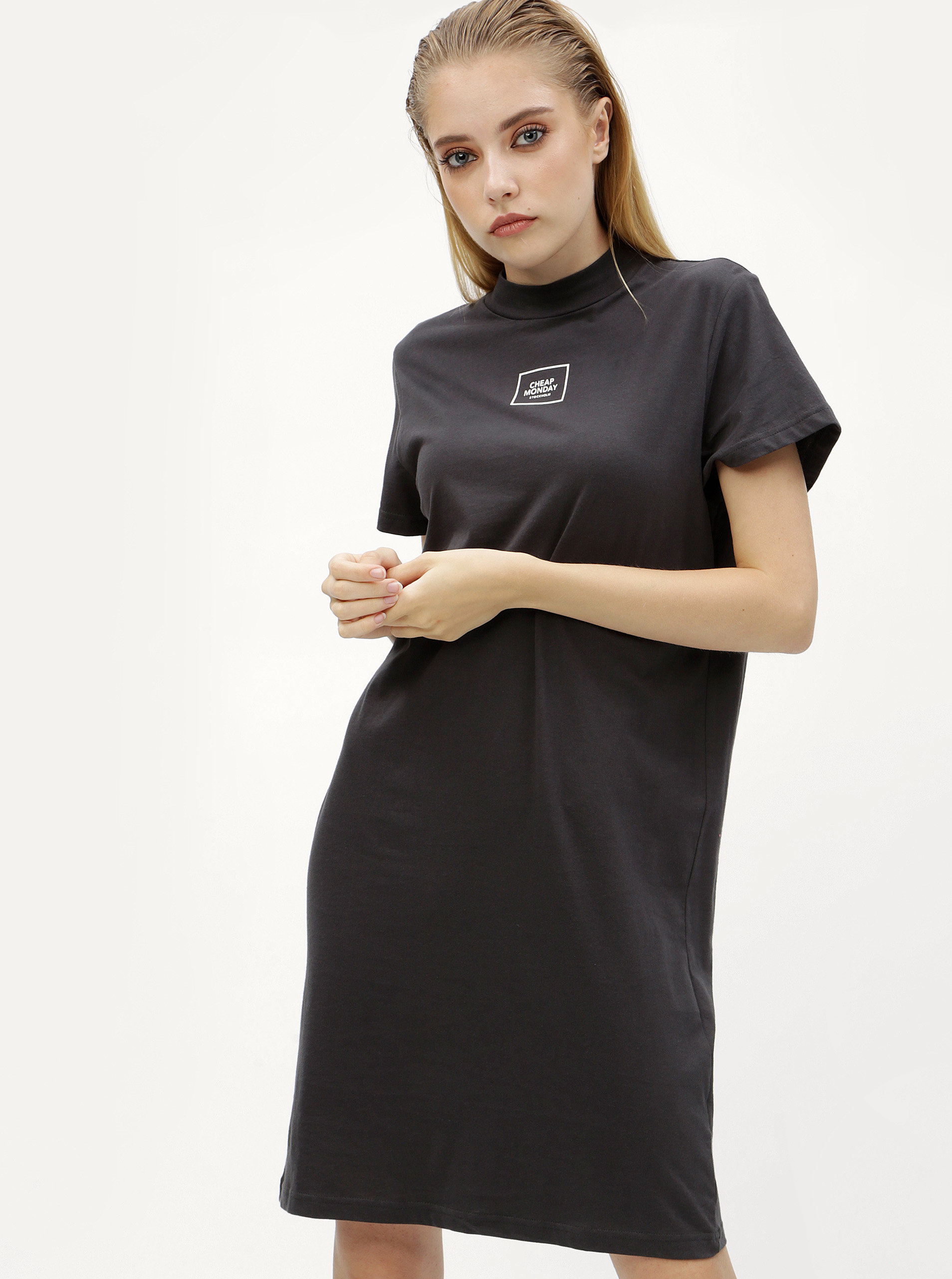 7c2f25eddc8c Šedé šaty s potiskem Cheap Monday ...