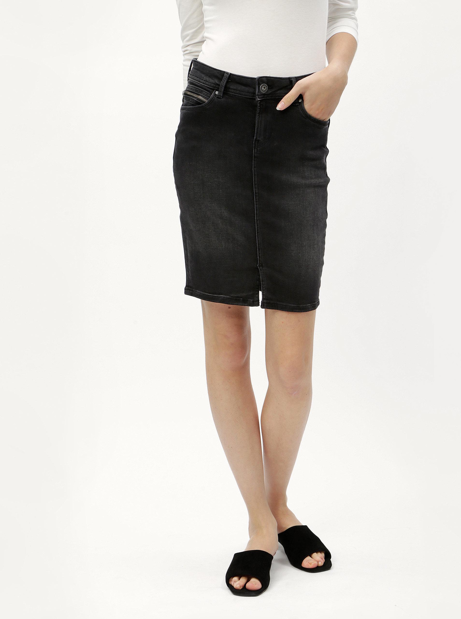 8bd394885f4 Černá džínová sukně Pepe Jeans ...