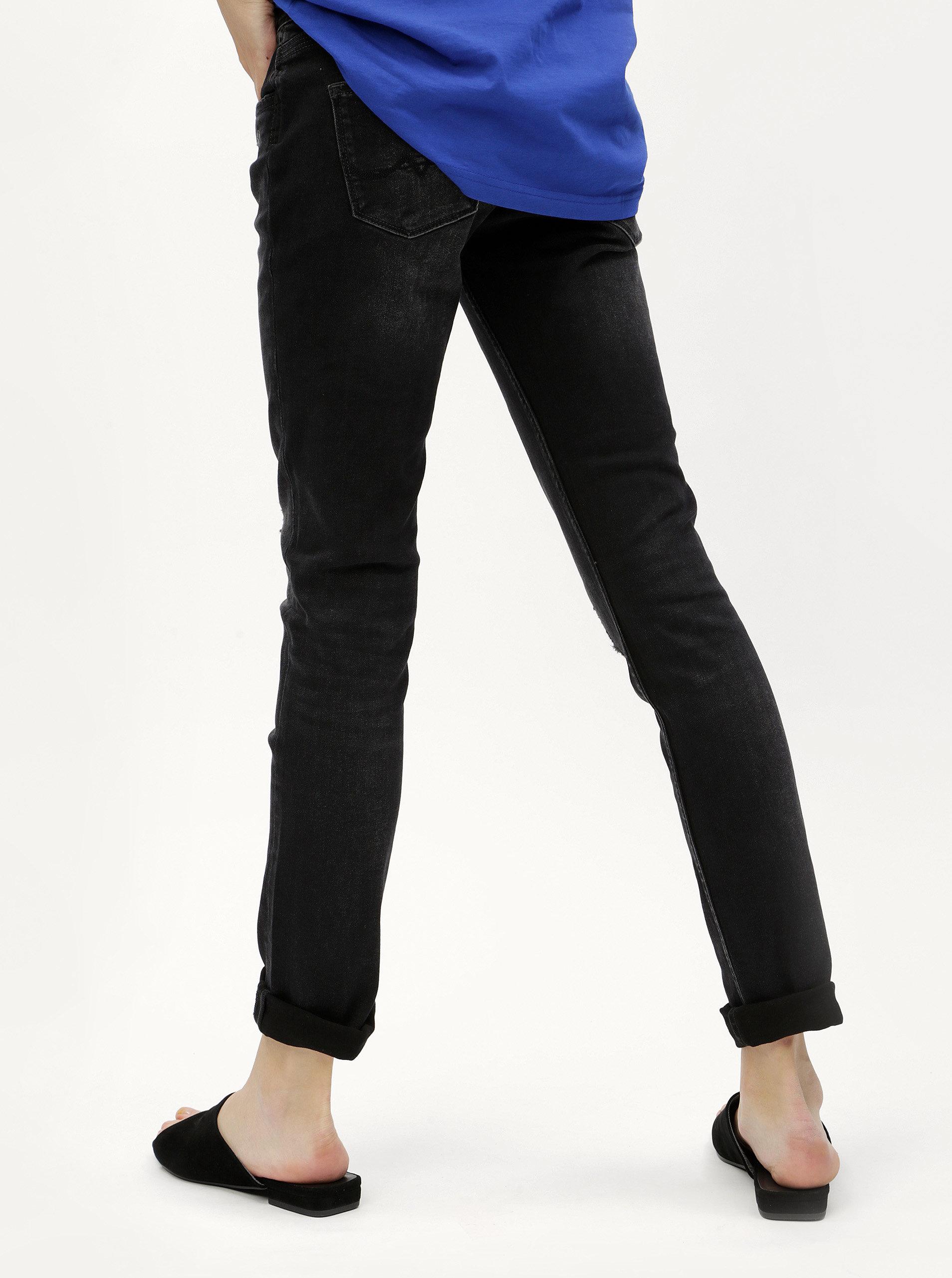 Černé dámské slim džíny s potrhaným efektem Pepe Jeans Vera ... 5e65e1d45a