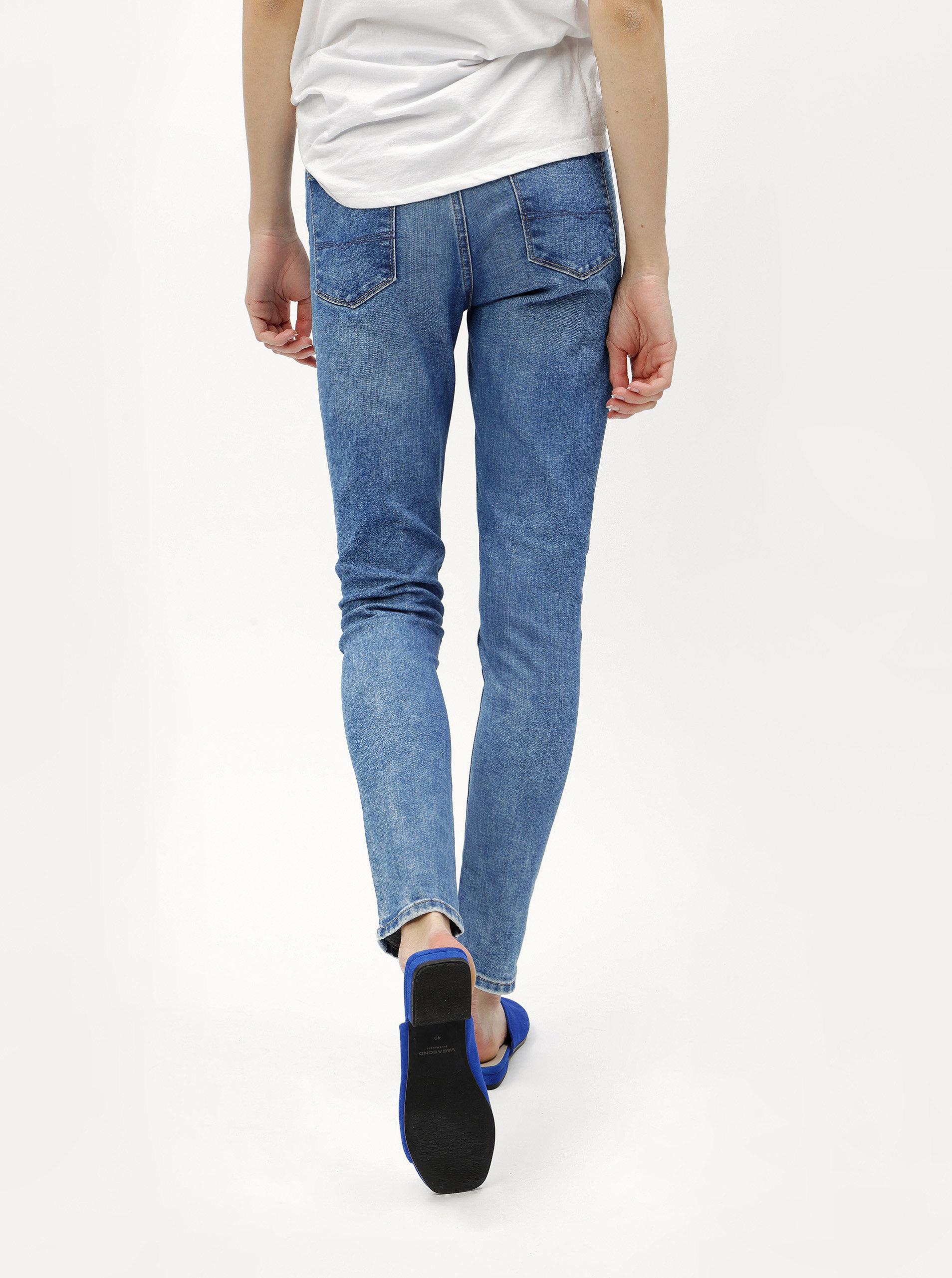 0ed62de595b Modré dámské skinny džíny s vysokým pasem džíny Pepe Jeans ...