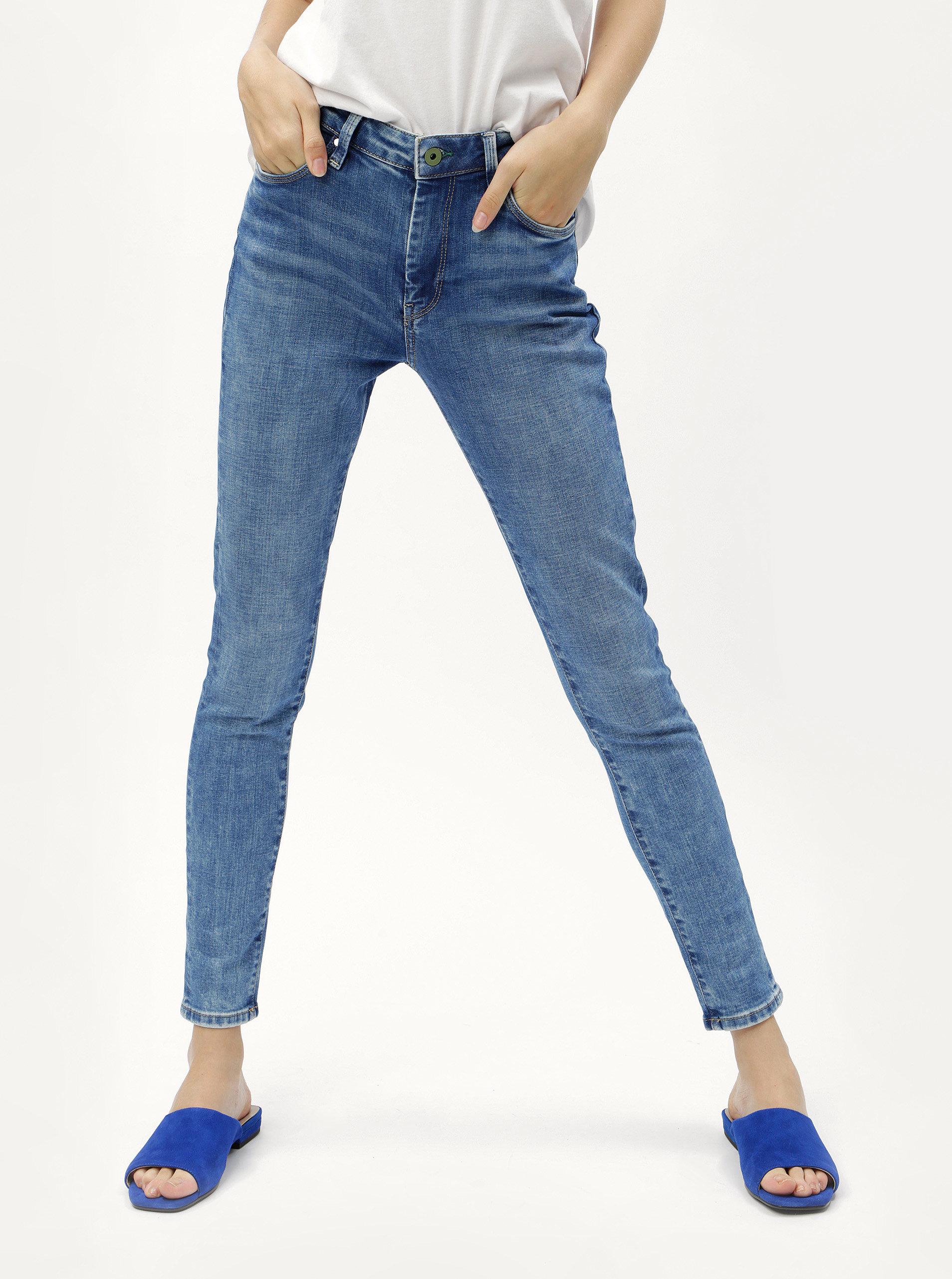 9378578acf4 Modré dámské skinny džíny s vysokým pasem džíny Pepe Jeans Regent ...