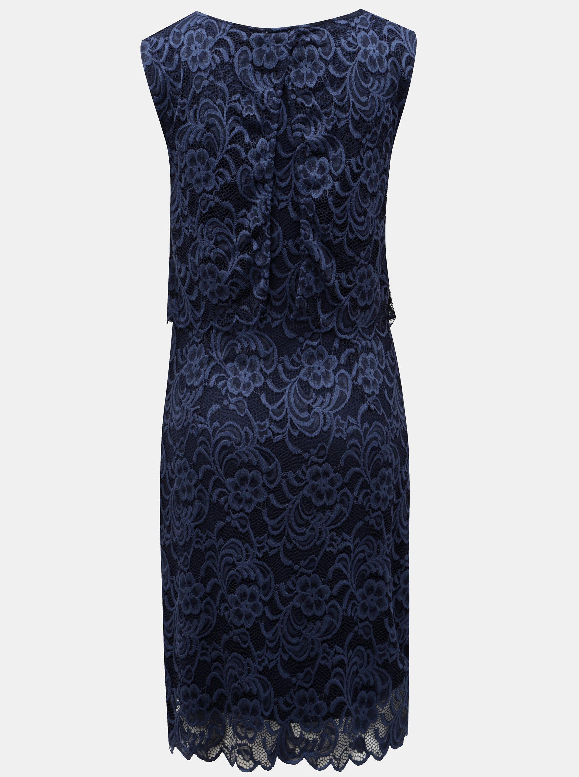 Tmavě modré kojicí krajkové šaty bez rukávu Mama.licious ... ee87cde2f6