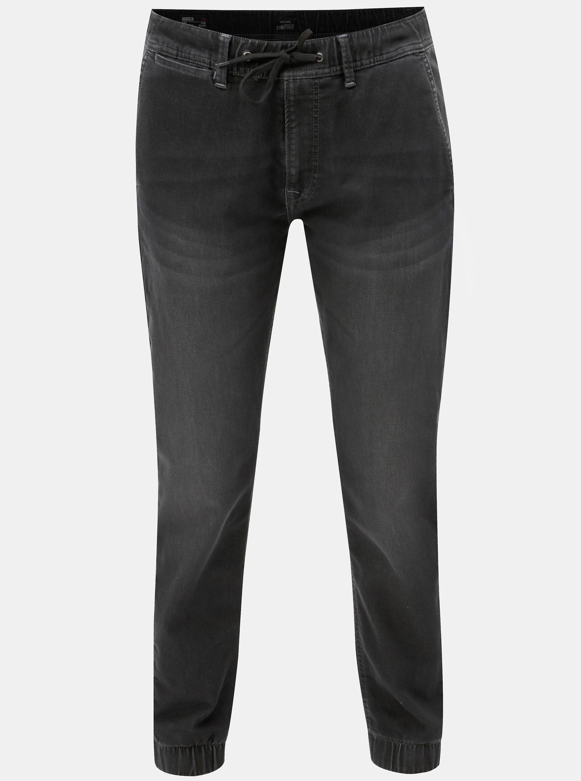 Černé pánské kalhoty s elastickým pasem Pepe Jeans ... 5b7e3a3b65
