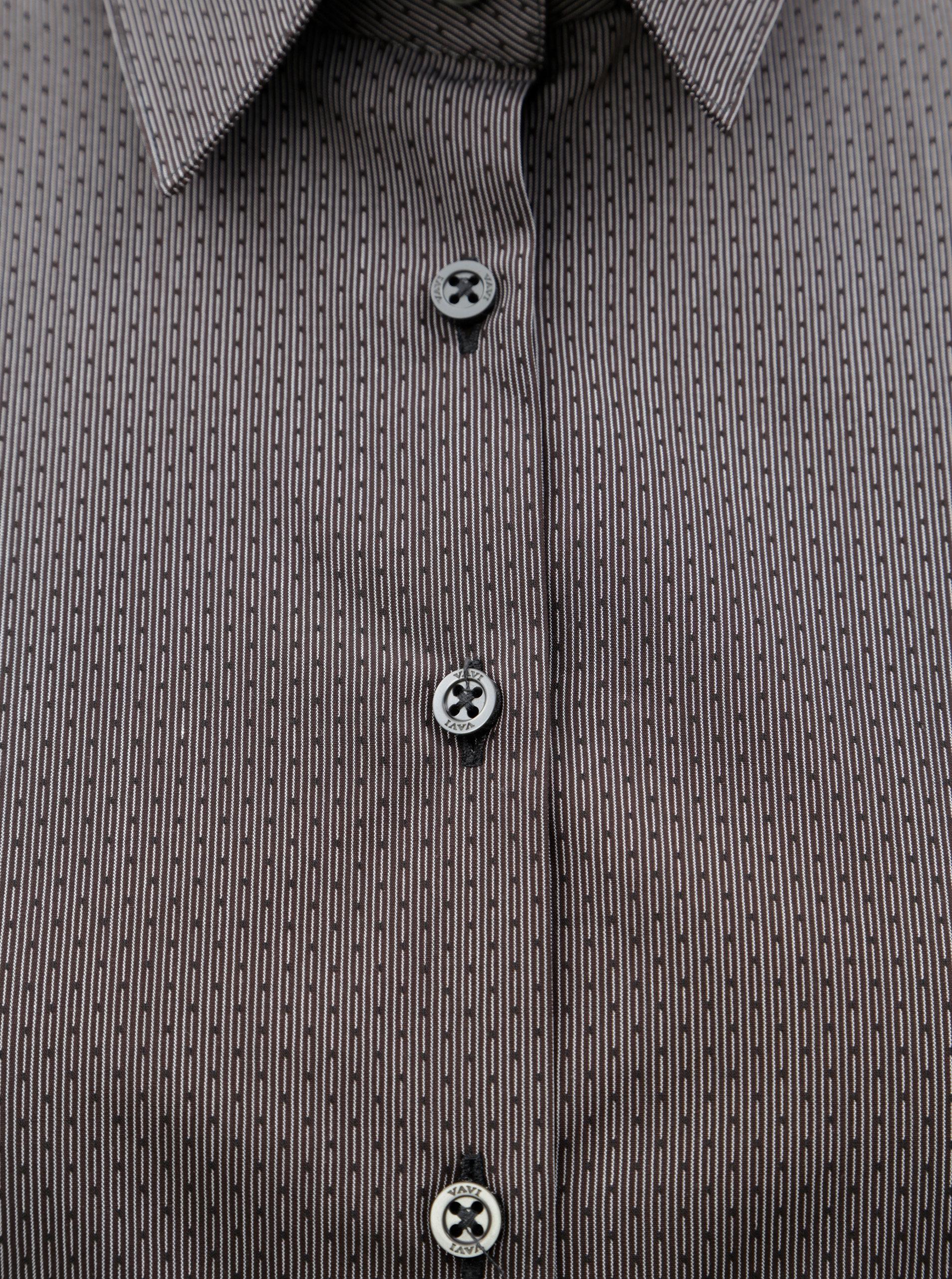 Tmavě šedá dámská košile s drobným vzorem VAVI ... 207e622aee
