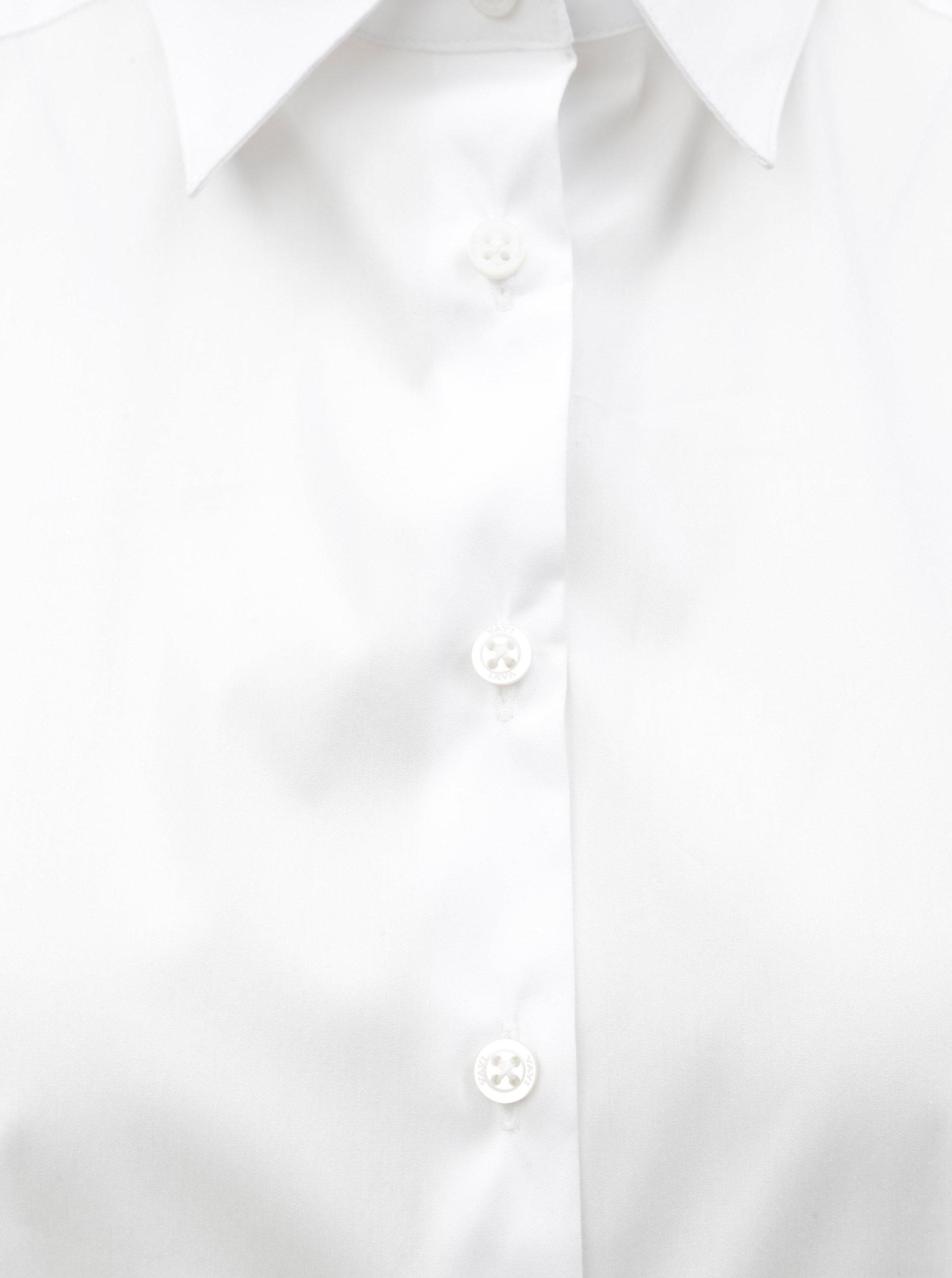 b6344b3940c0 Biele voľné košeľové šaty s dlhým rukávom VAVI ...