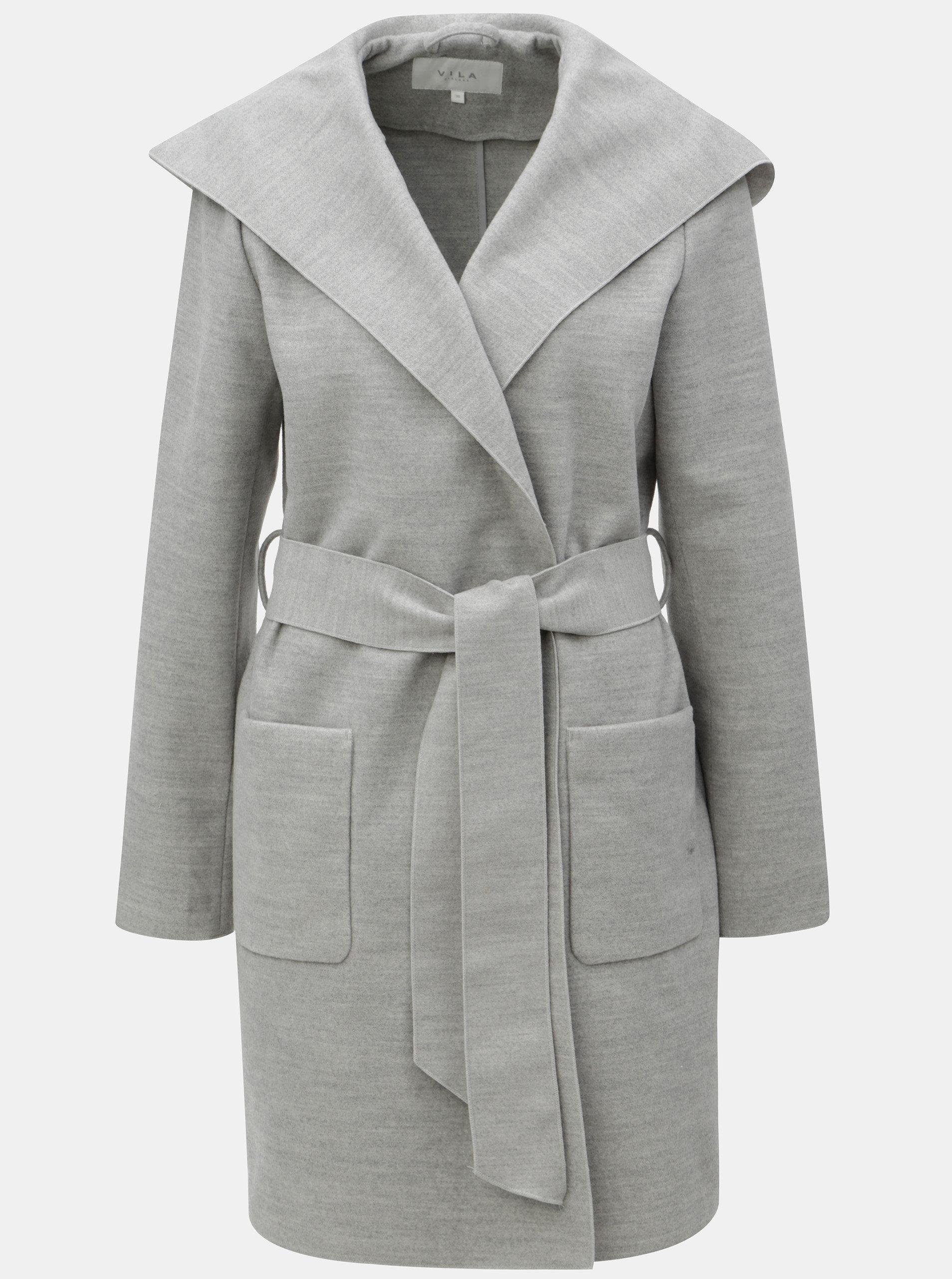 b3076c6be0 Šedý kabát s kapucí VILA Apple ...
