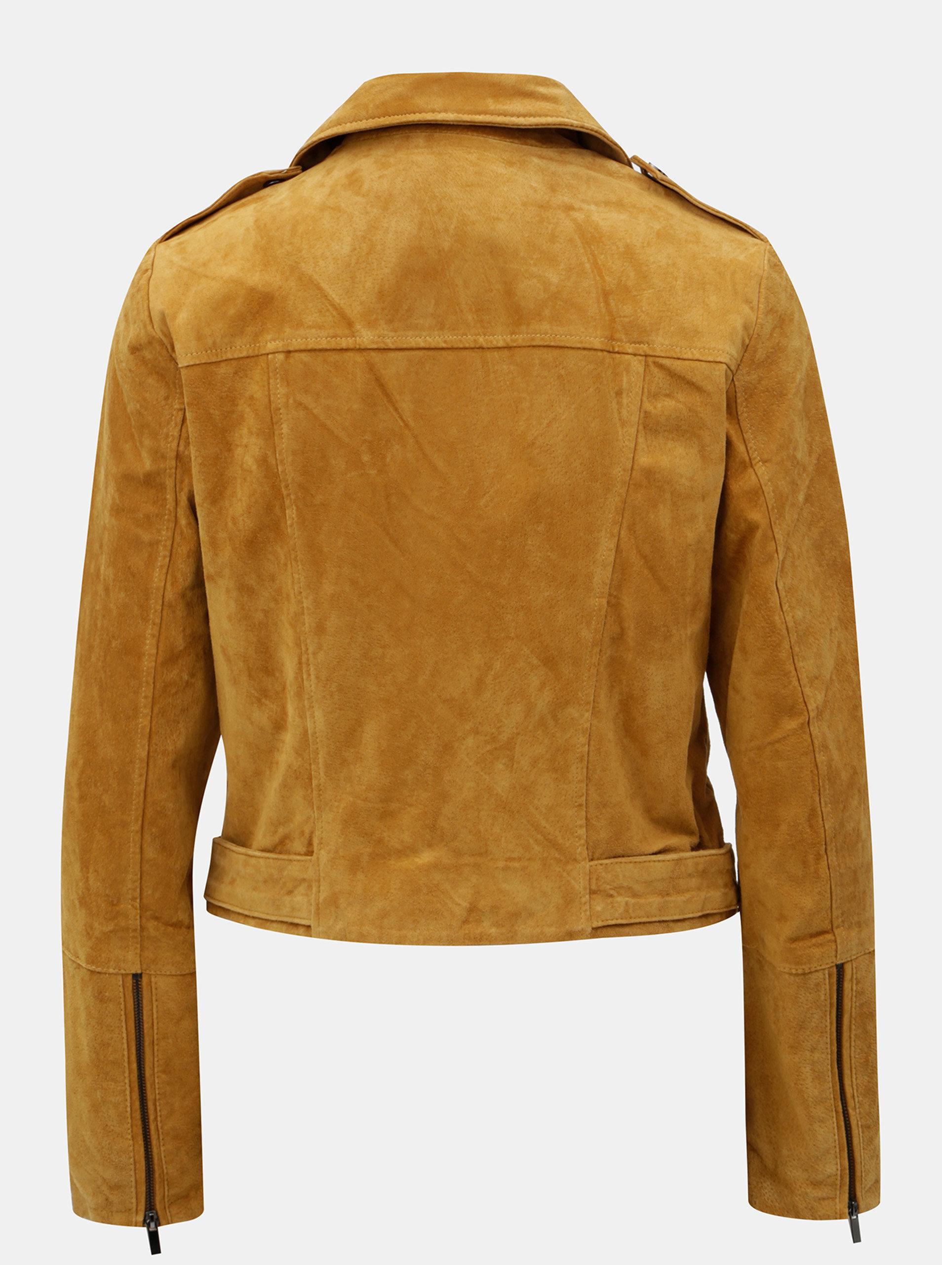 f25e8c612 Hnedá semišová kožená bunda VILA Faith | ZOOT.sk
