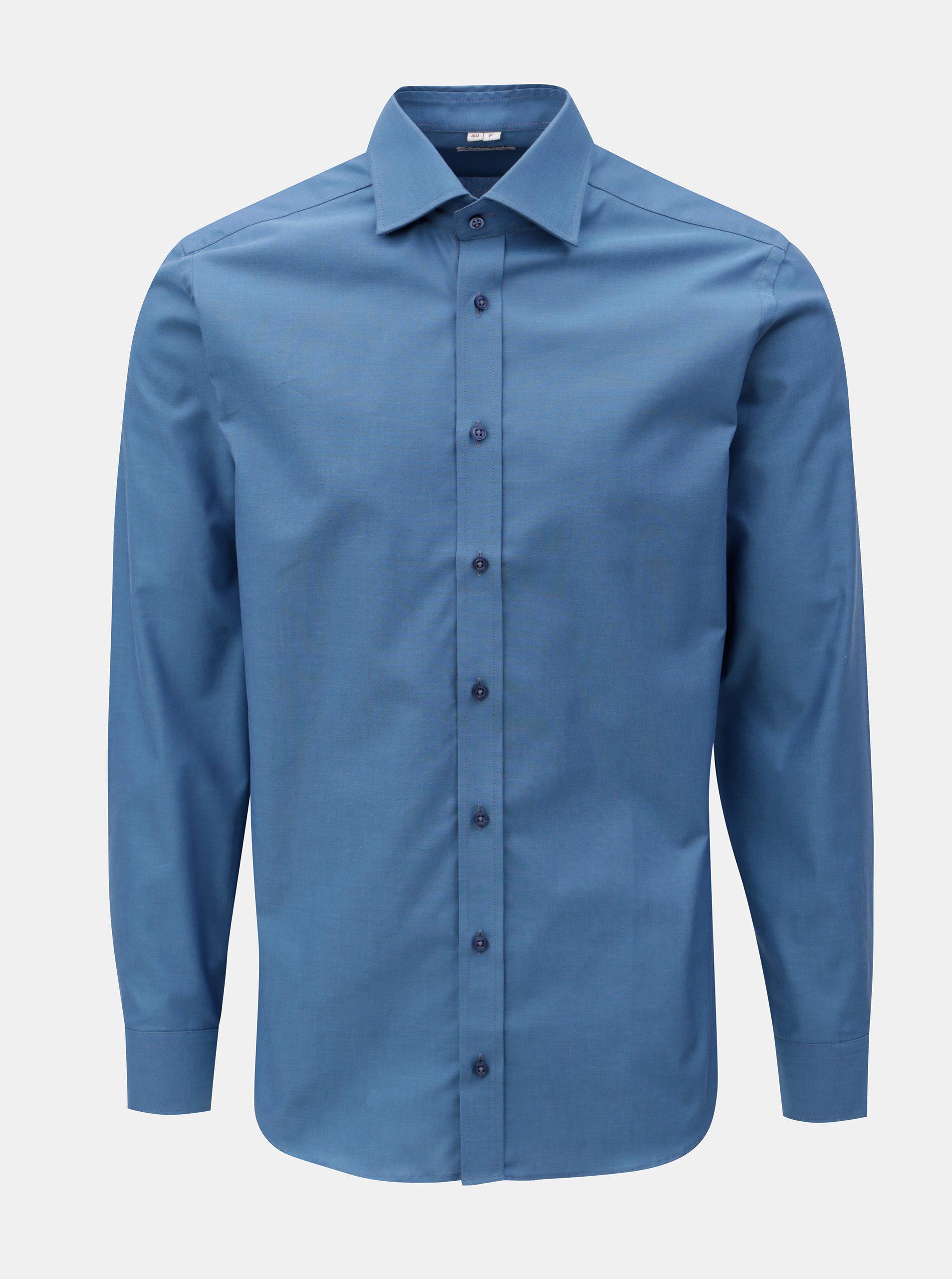 42d67e290c6c Modrá pánská formální košile VAVI ...